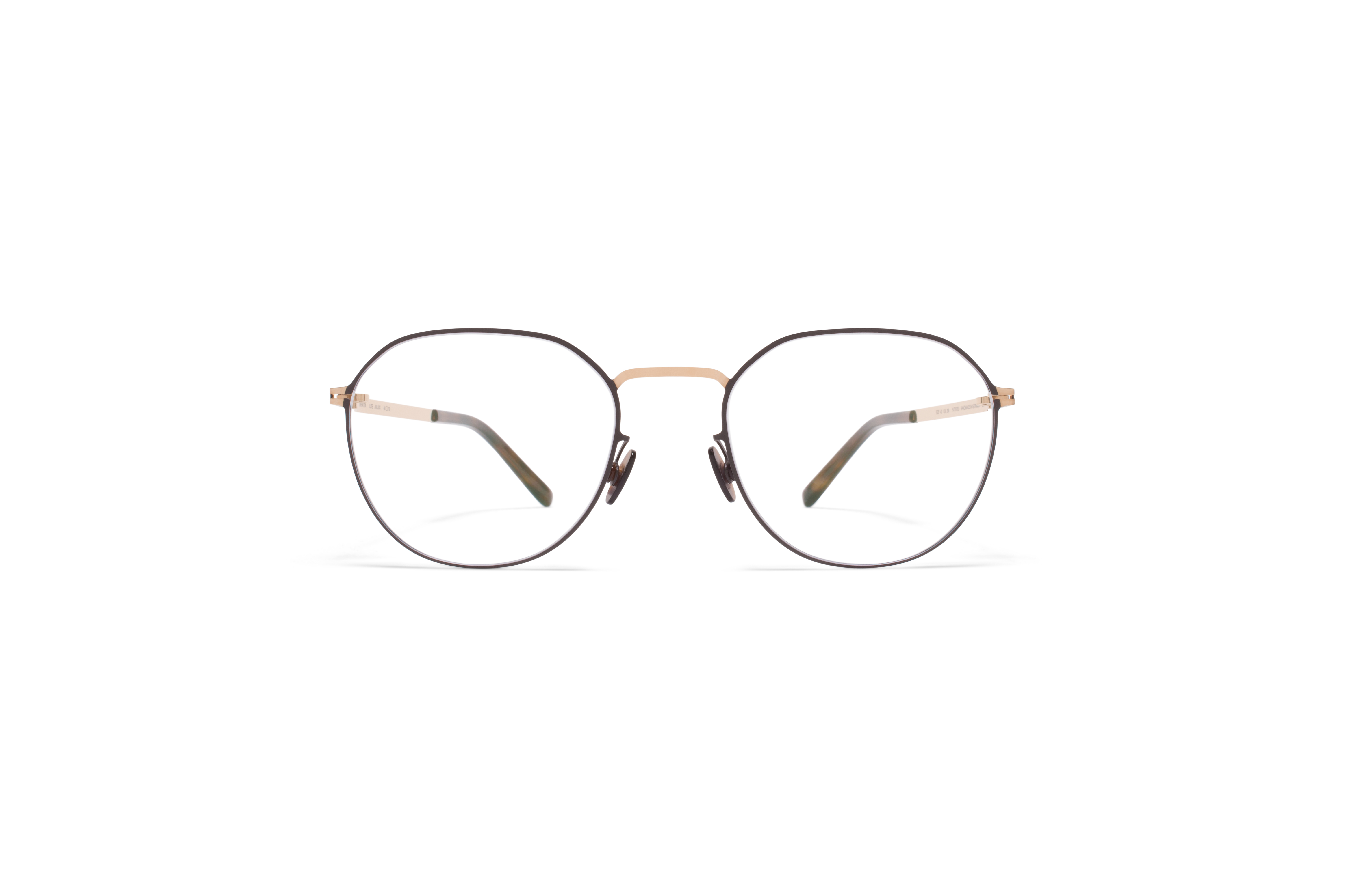 MYKITA Lite Acetate Rx Julius Champagne Gold Dark Brown Clear