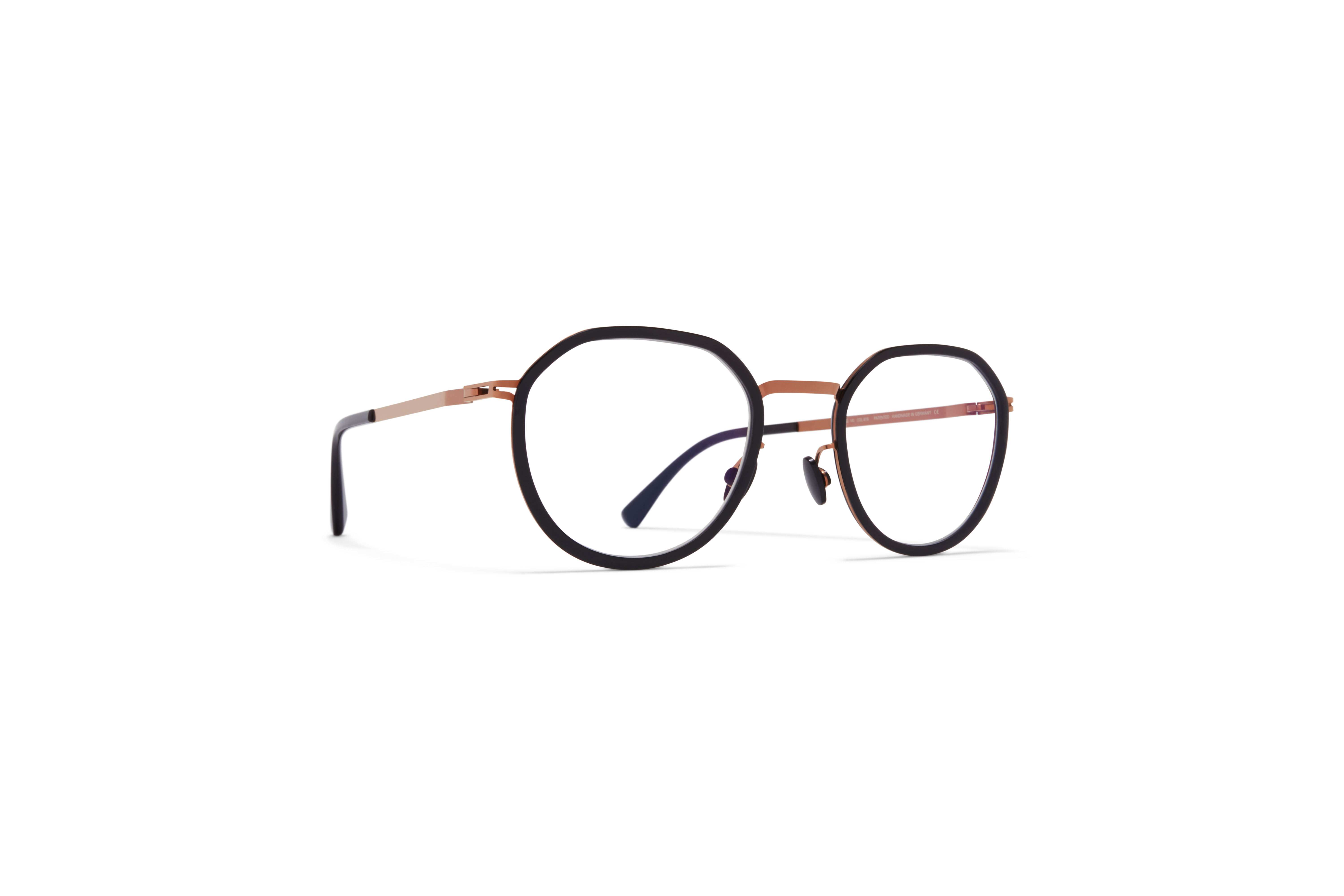 MYKITA Lite Acetate Rx Justus A37 Shiny Copper Black Clear