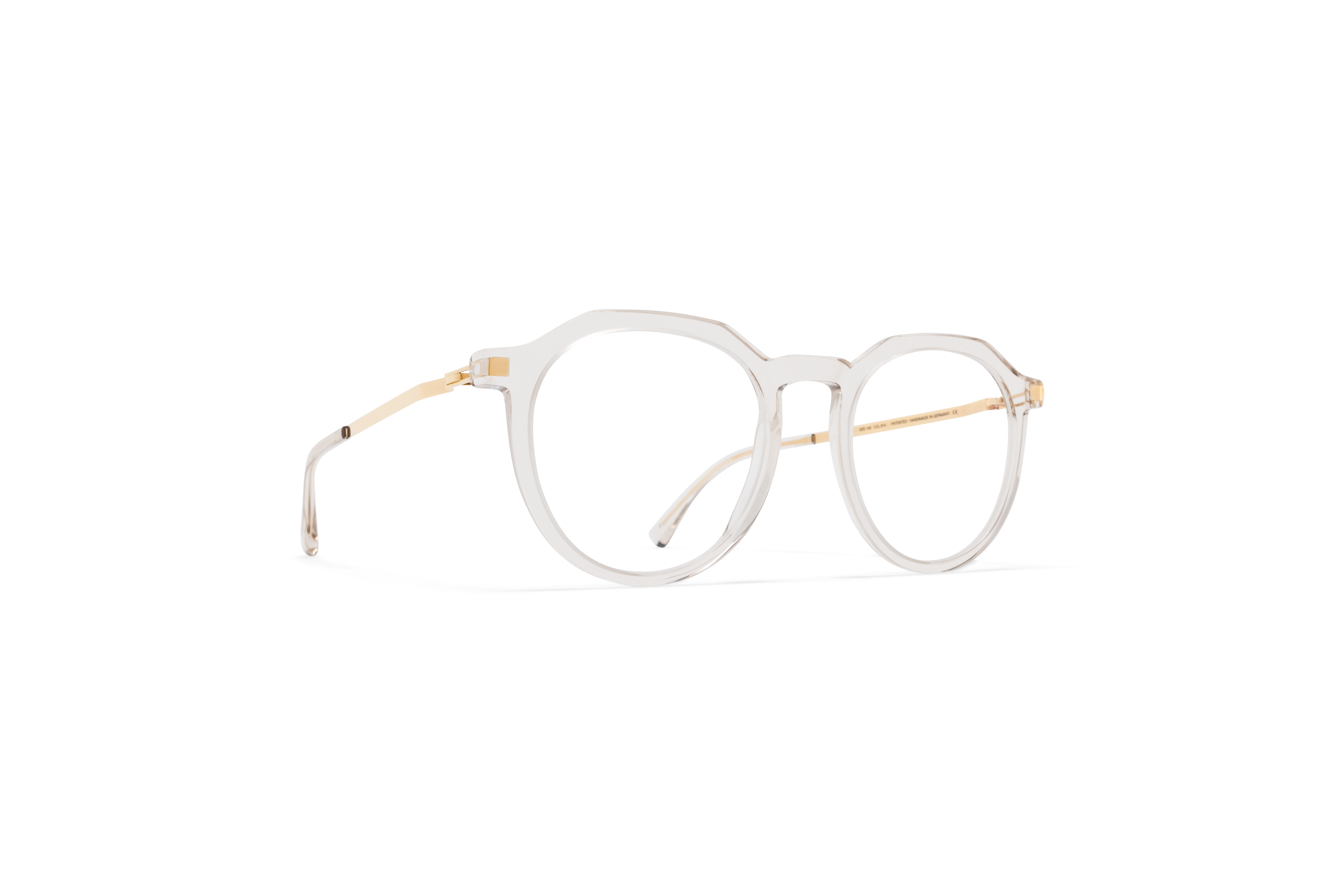 MYKITA Lite Acetate Rx Lagon C1 Champagne Glossy Gold Clear
