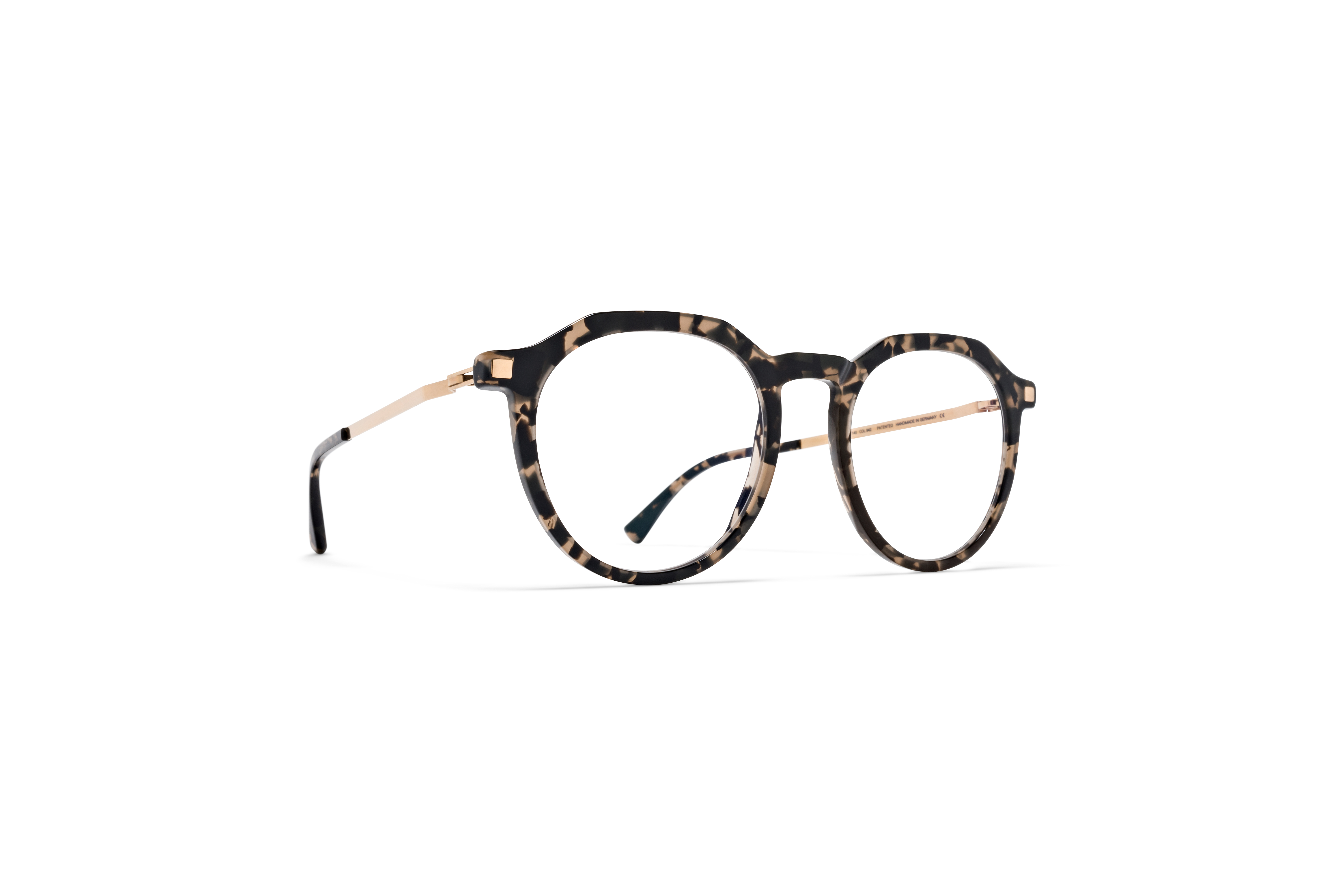 MYKITA Lite Acetate Rx Lagon C22 Antigua Champagne Gold Clear
