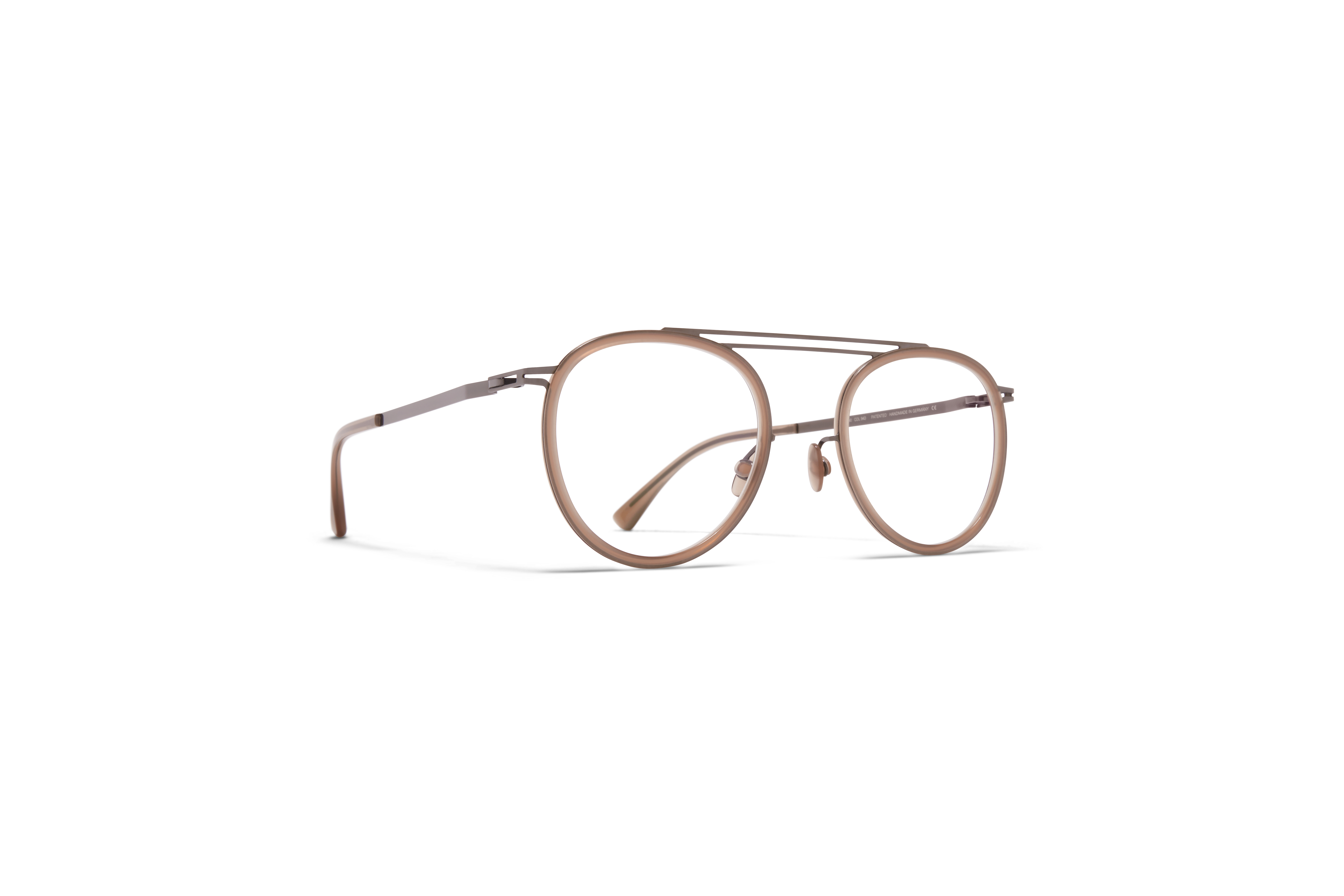 MYKITA Lite Acetate Rx Maren Shiny Graphite Taupe Clear