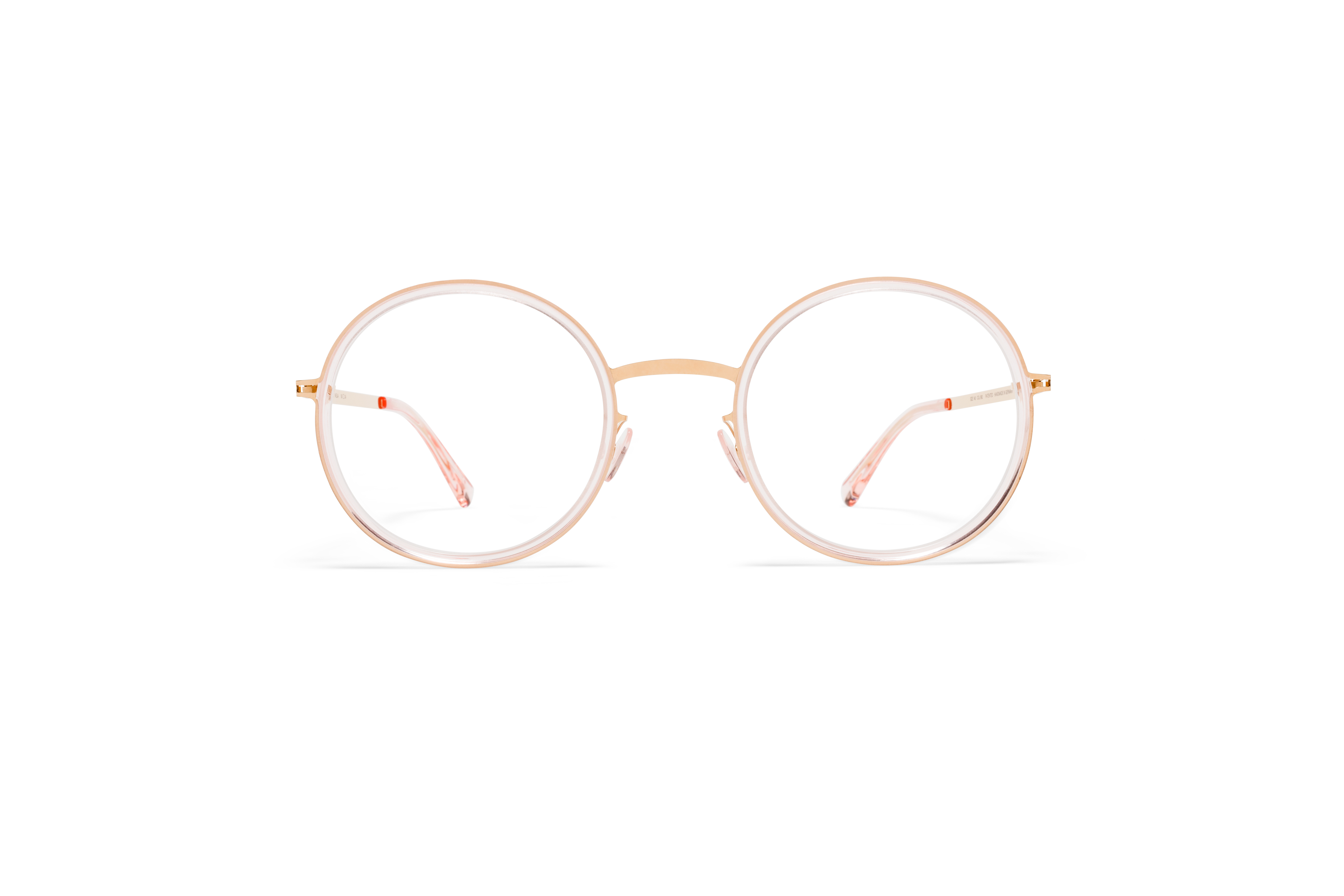 MYKITA Lite Acetate Rx Meja A27 Champagne Gold Rose Water Clear