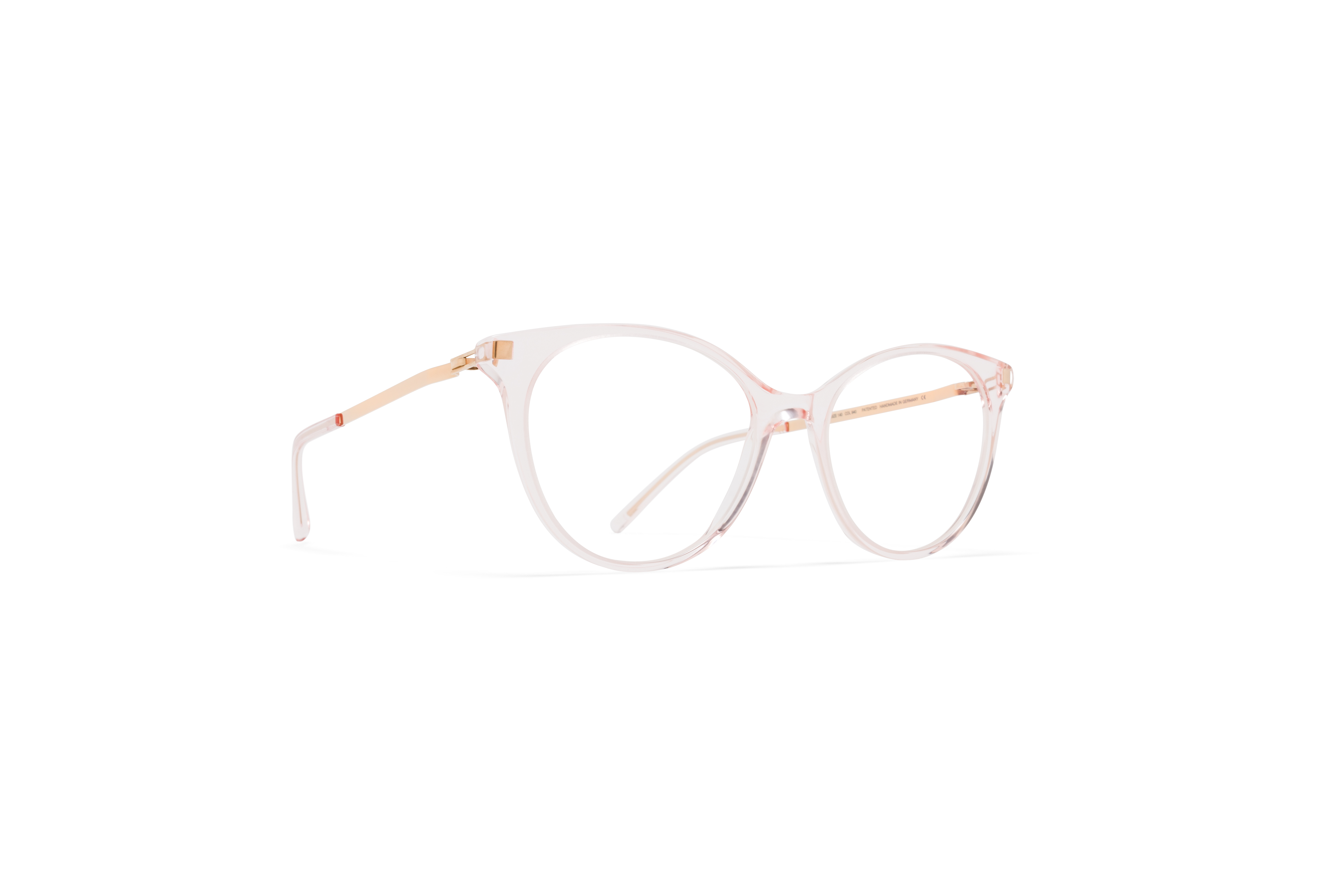 MYKITA Lite Acetate Rx Nanook C20 Rose Water Champagne Gold Clear