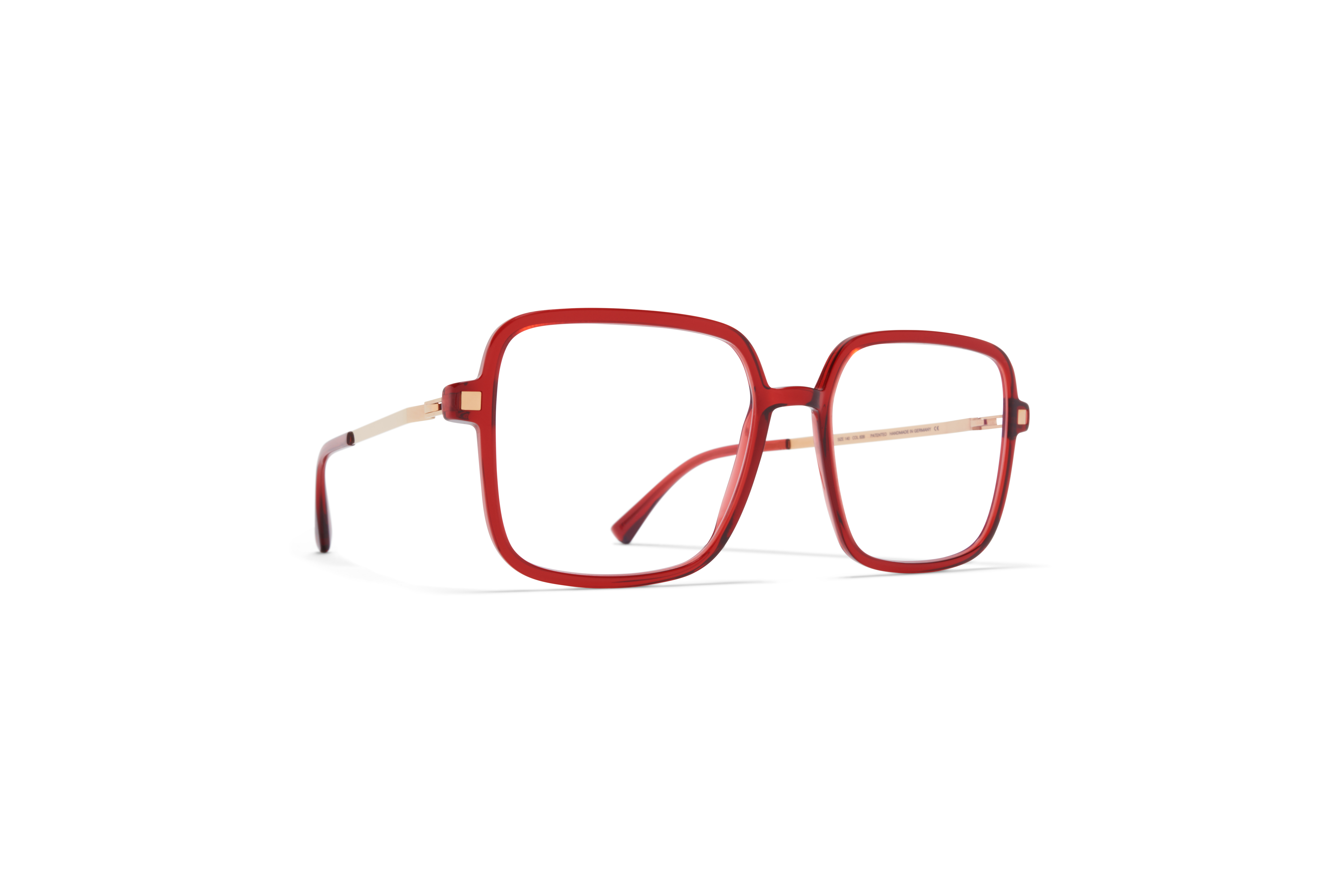 MYKITA Lite Acetate Rx Niba C75 Ruby Champagne Gold Clear