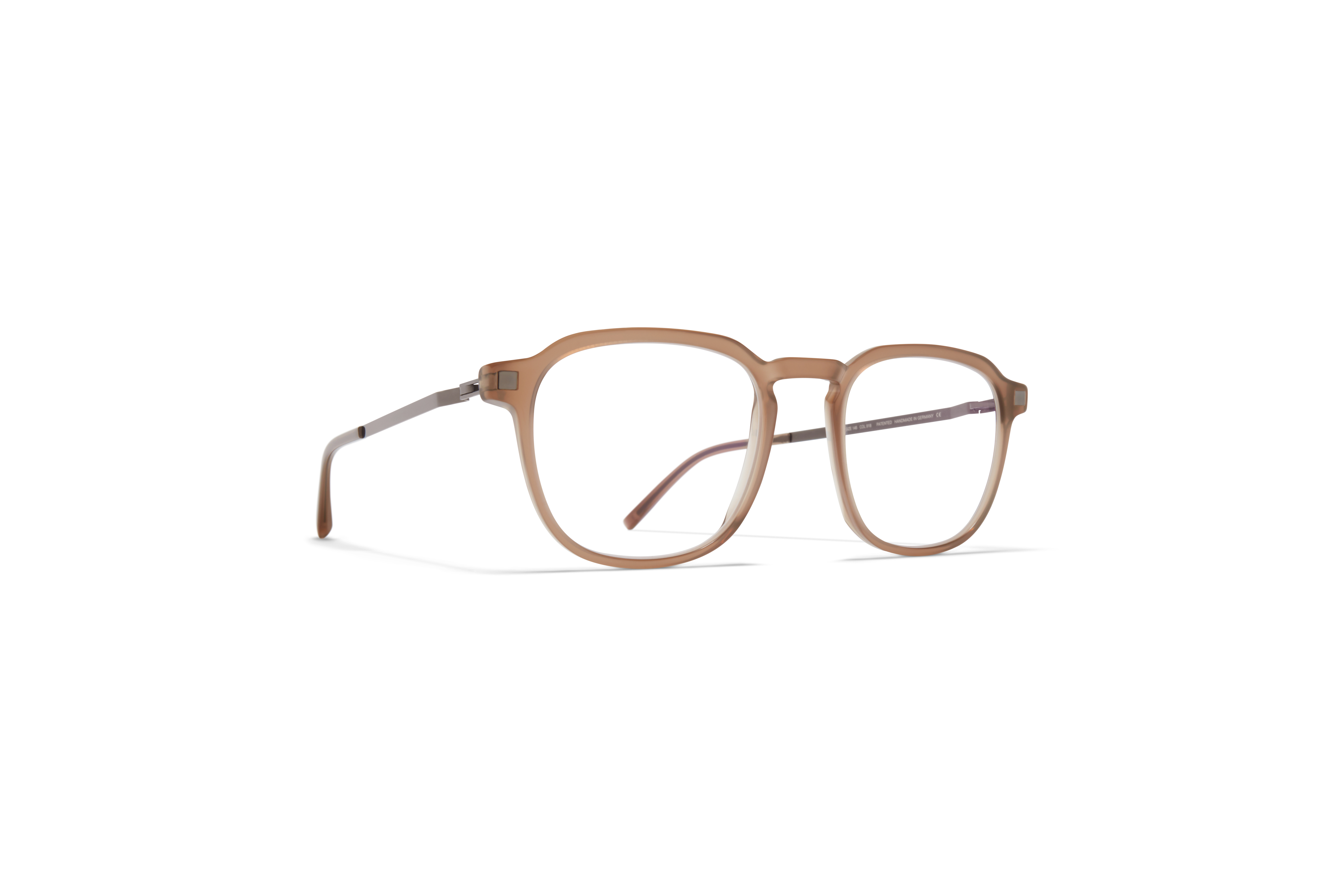 MYKITA Lite Acetate Rx Pal C5 Taupe Shiny Graphite Clear