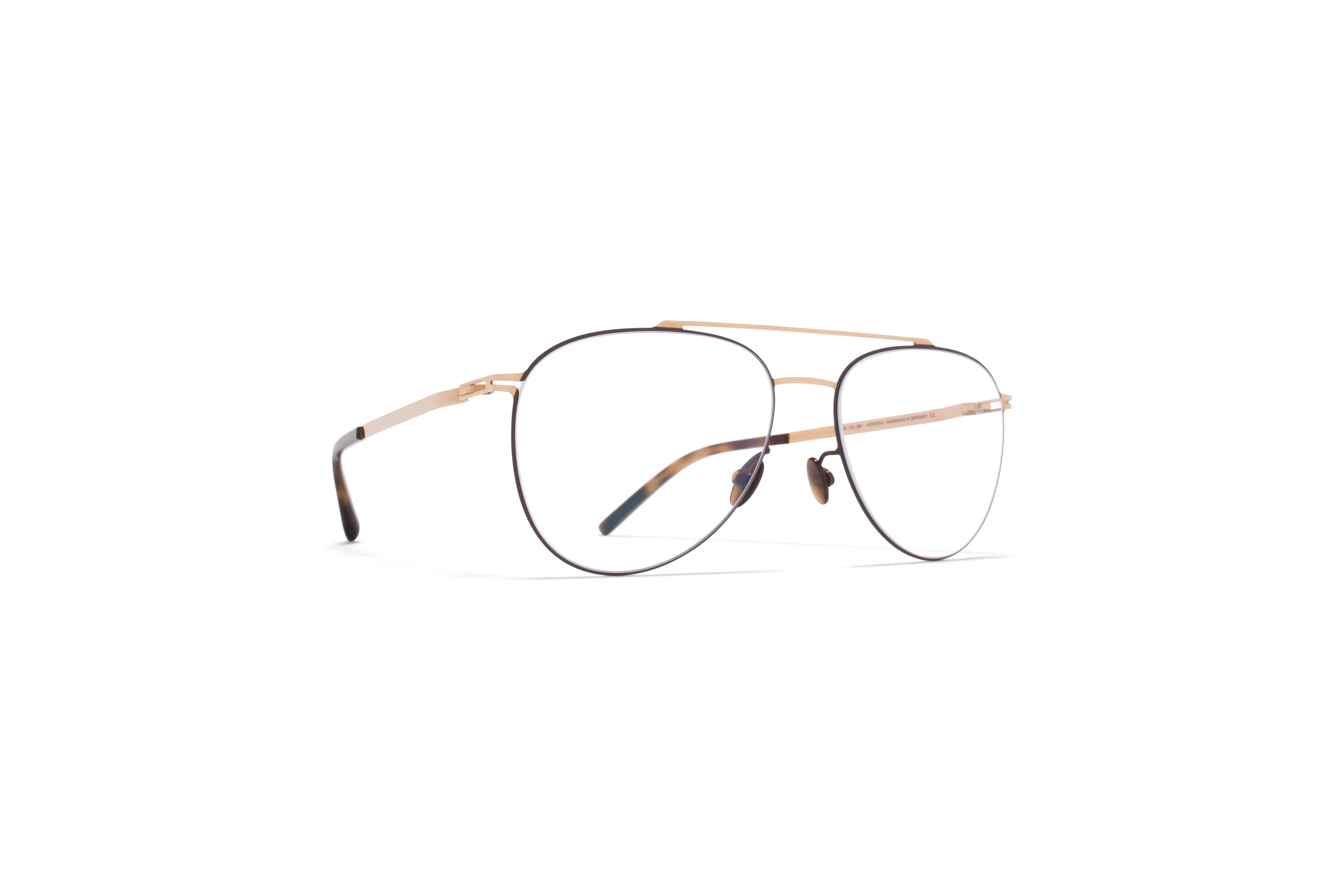 MYKITA Lite Acetate Rx Peterson Champagne Gold Dark Brown Clear