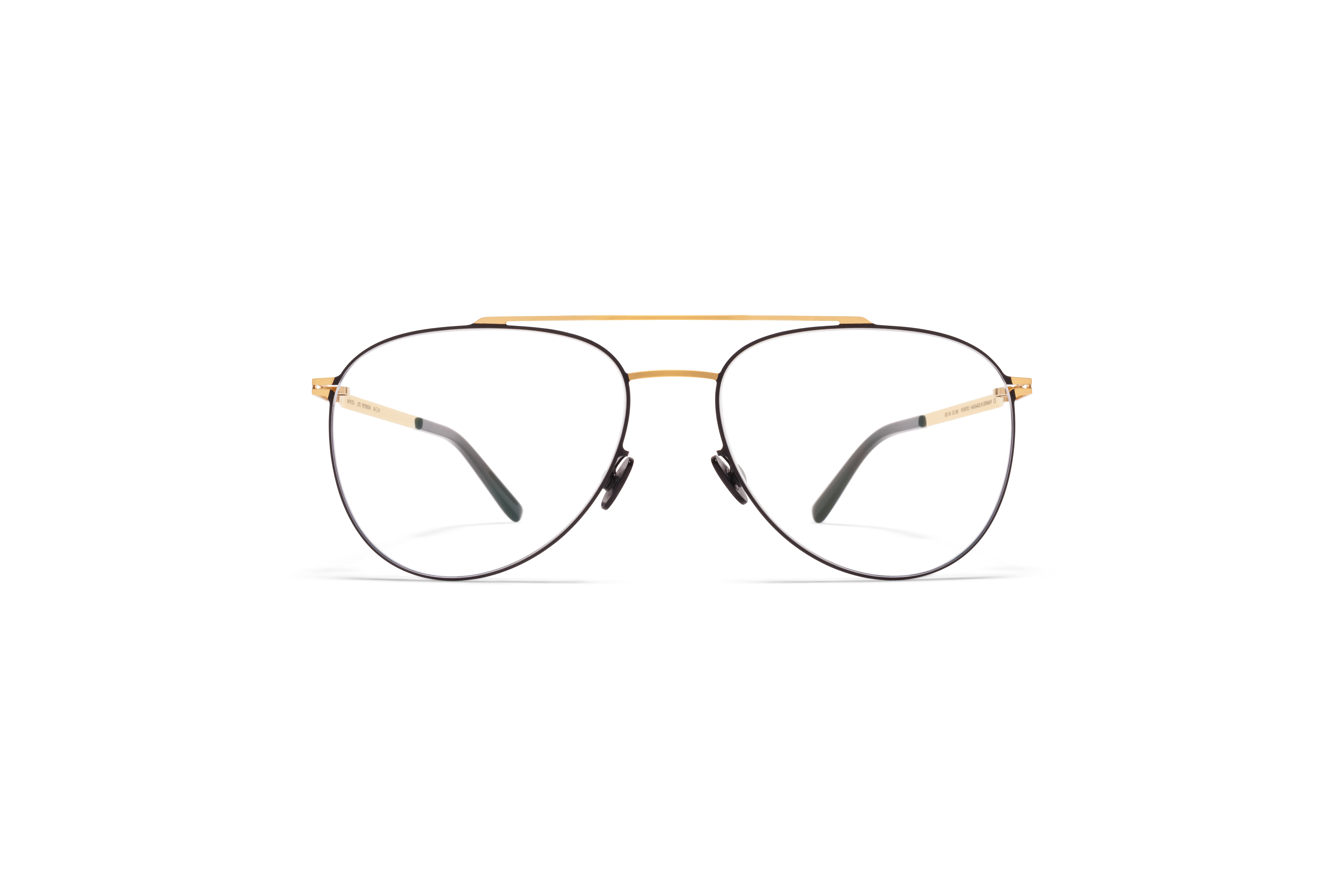 MYKITA Lite Acetate Rx Peterson Gold Black Clear
