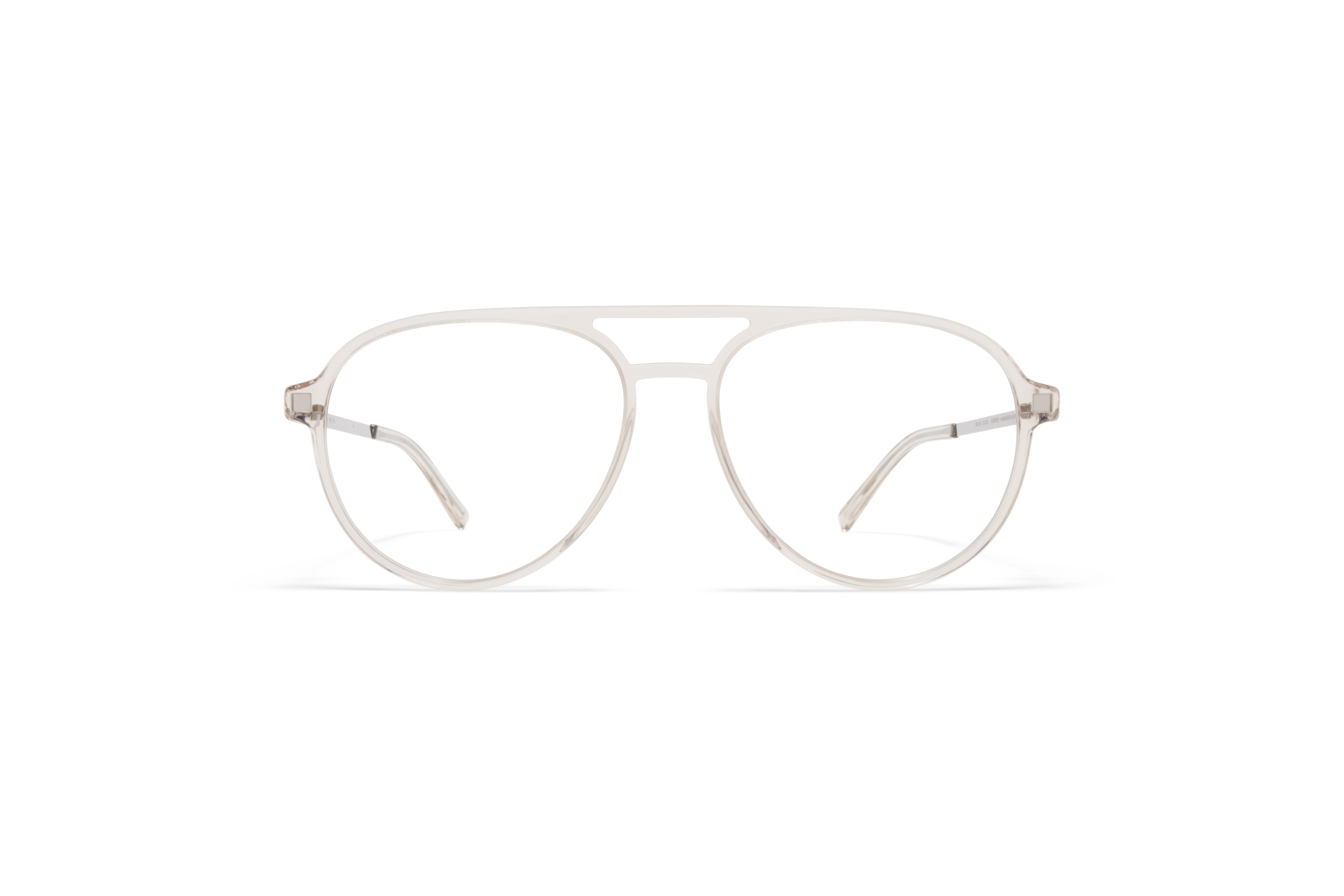 MYKITA Lite Acetate Rx Pok C74 Champagne Shiny Silver Clear