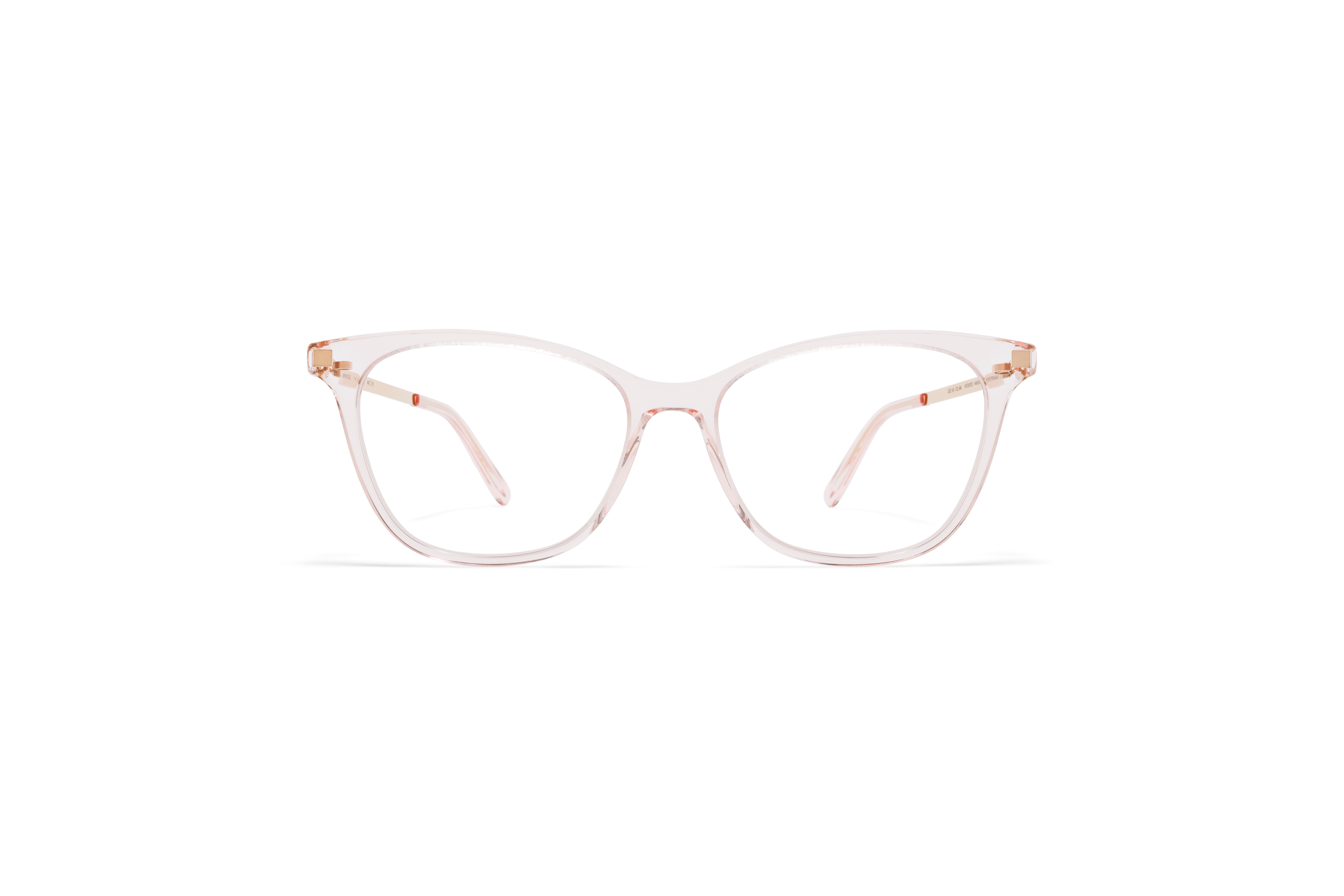 MYKITA Lite Acetate Rx Sesi C20 Rose Water Champagne Gold Clear