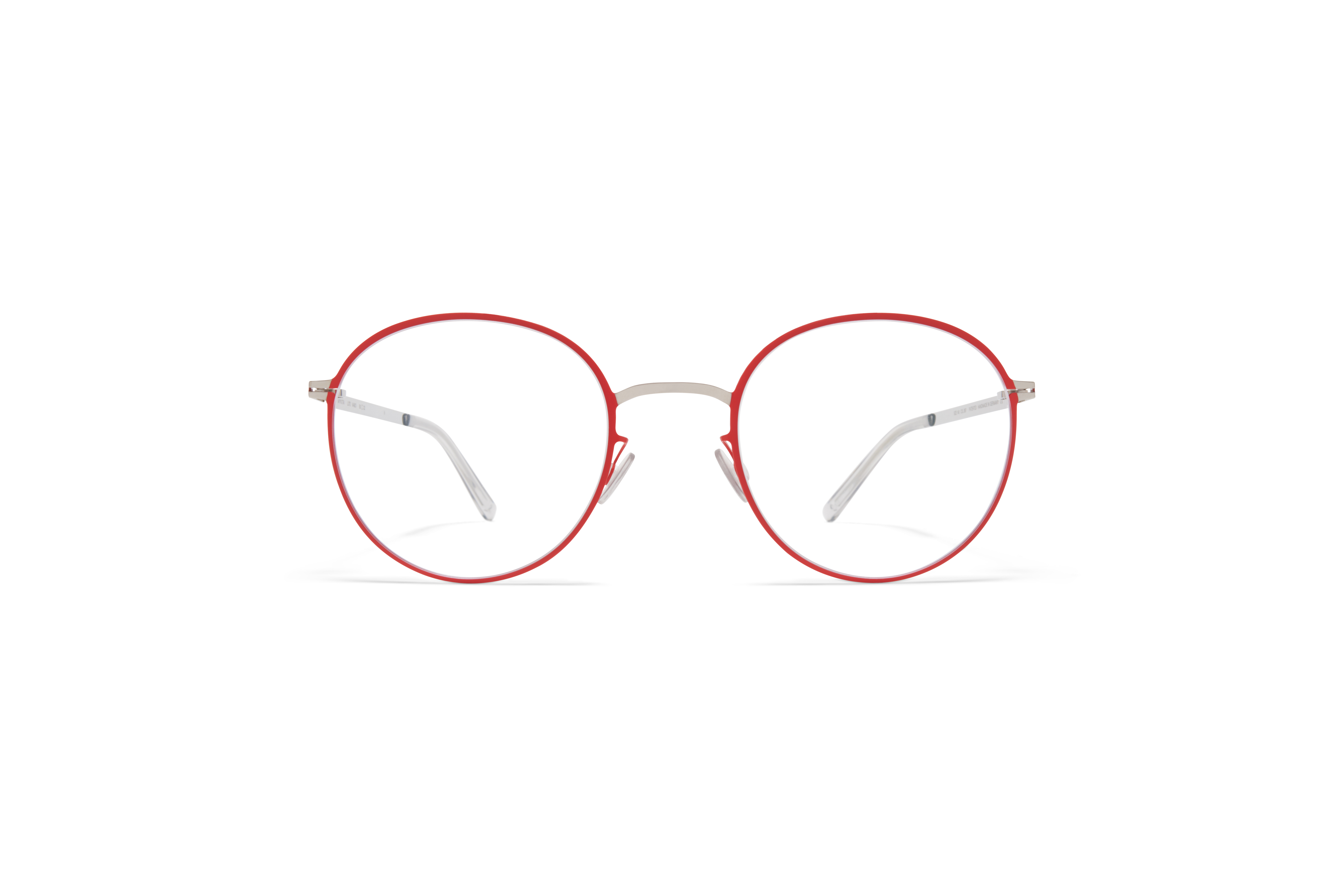 MYKITA Lite Acetate Rx Vabo Silver Rusty Red Clear