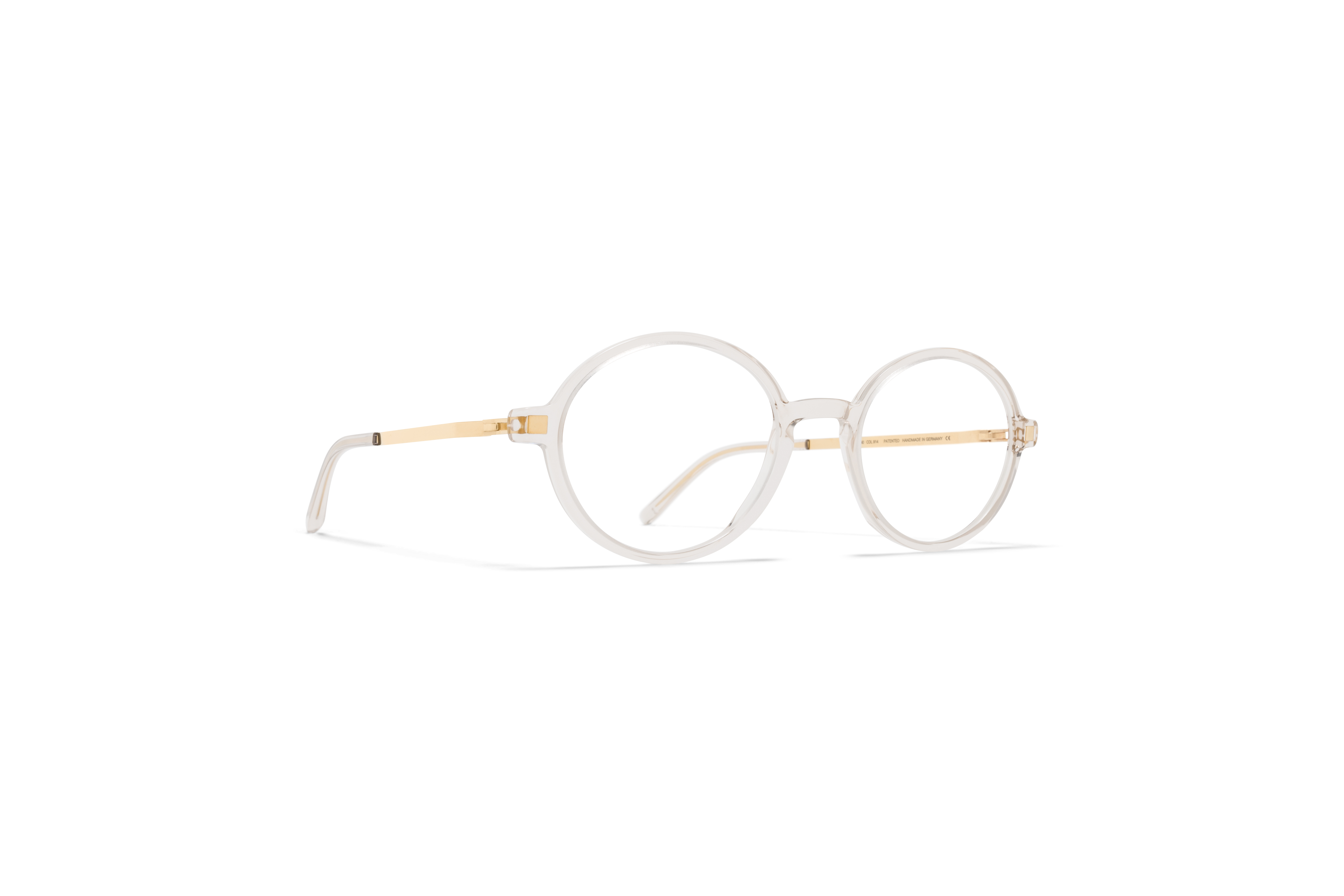 MYKITA Lite Acetate Rx Yuma C1 Champagne Glossy Gold Clear