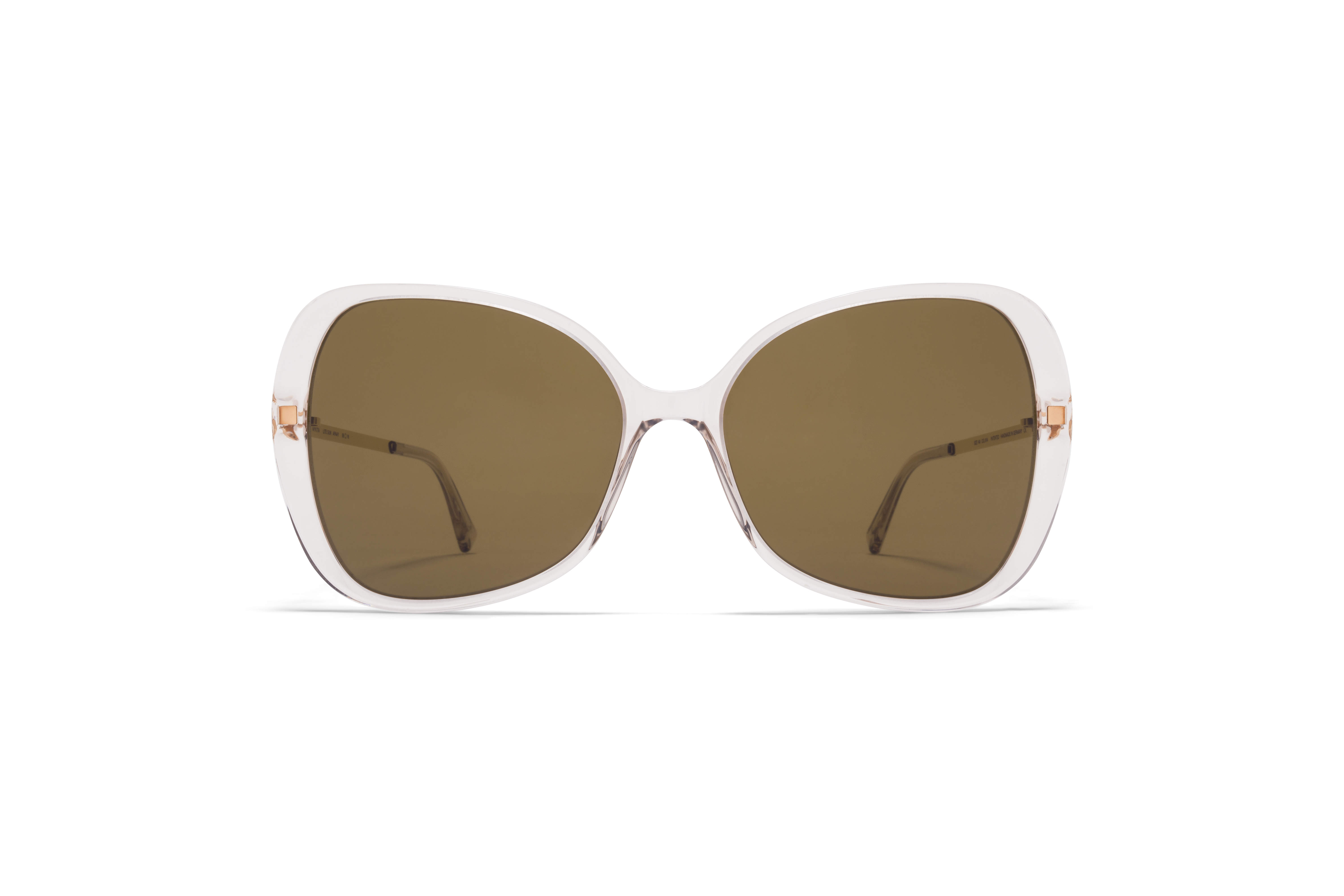 MYKITA Lite Acetate Sun Apaay C1 Champagne Glossy Gold Raw Brown Solid