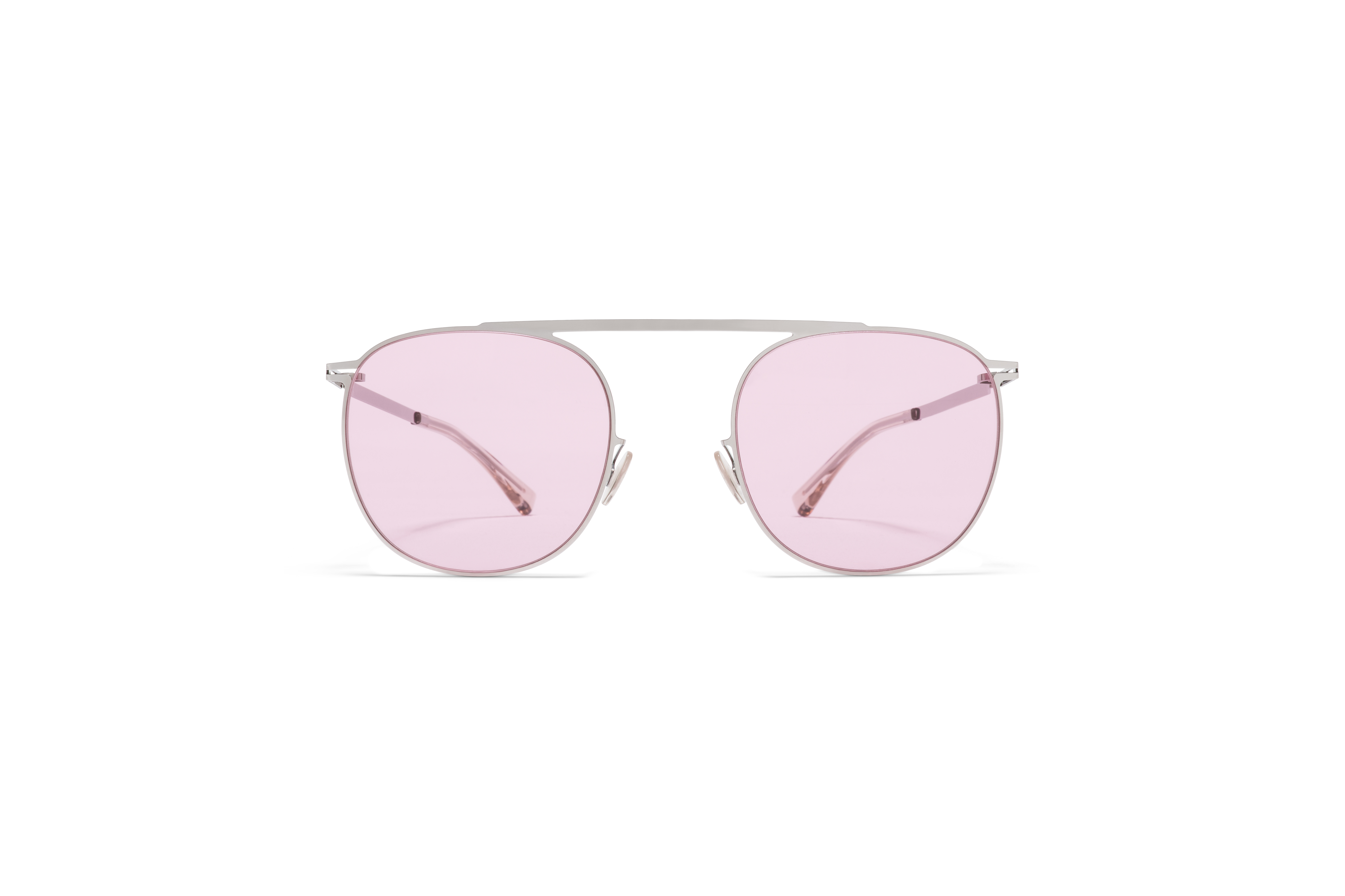 MYKITA Lite Acetate Sun Erling Shiny Silver Jelly Pink Solid