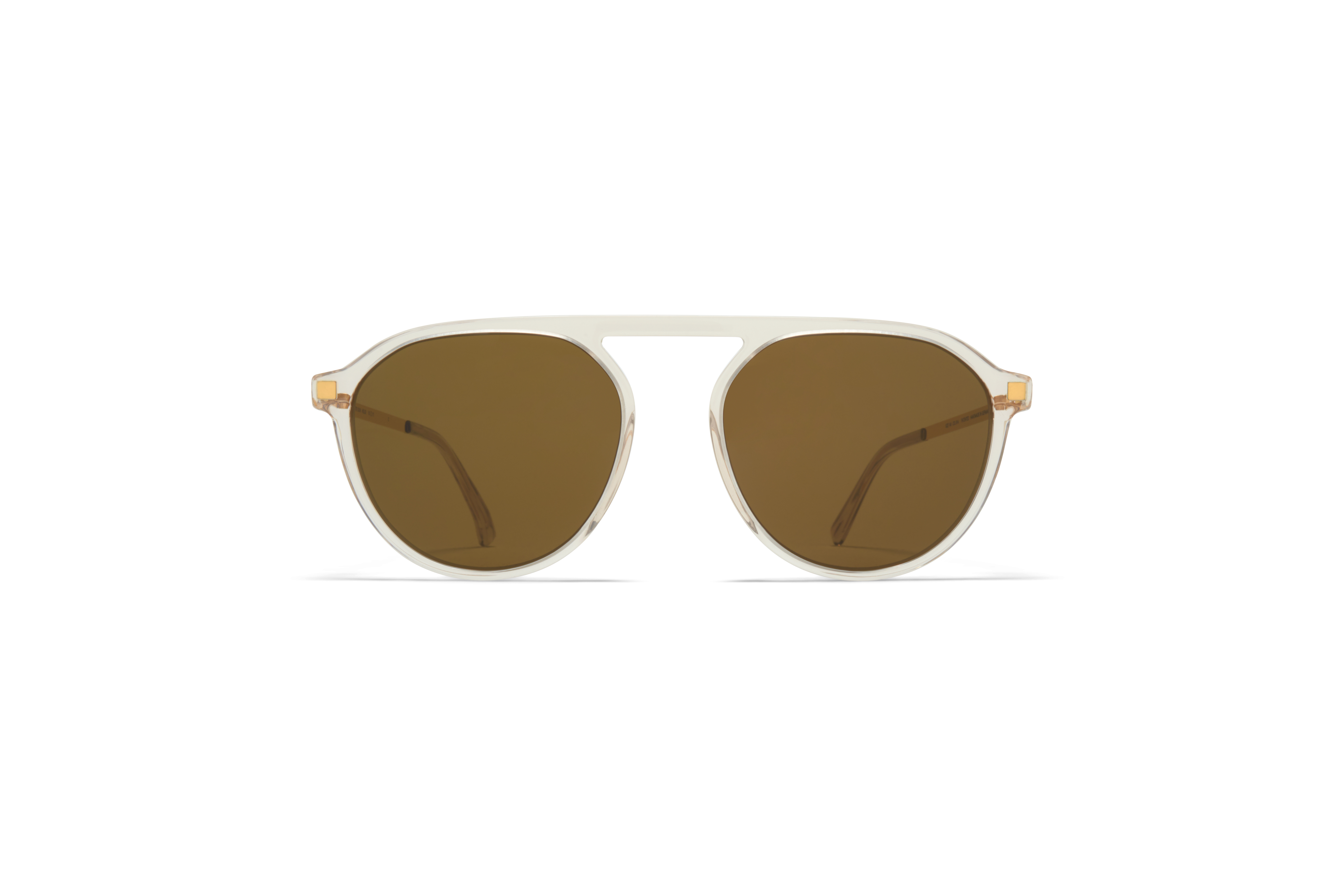 MYKITA Lite Acetate Sun Helgi C1 Champagne Glossy Gold Raw Brown Solid