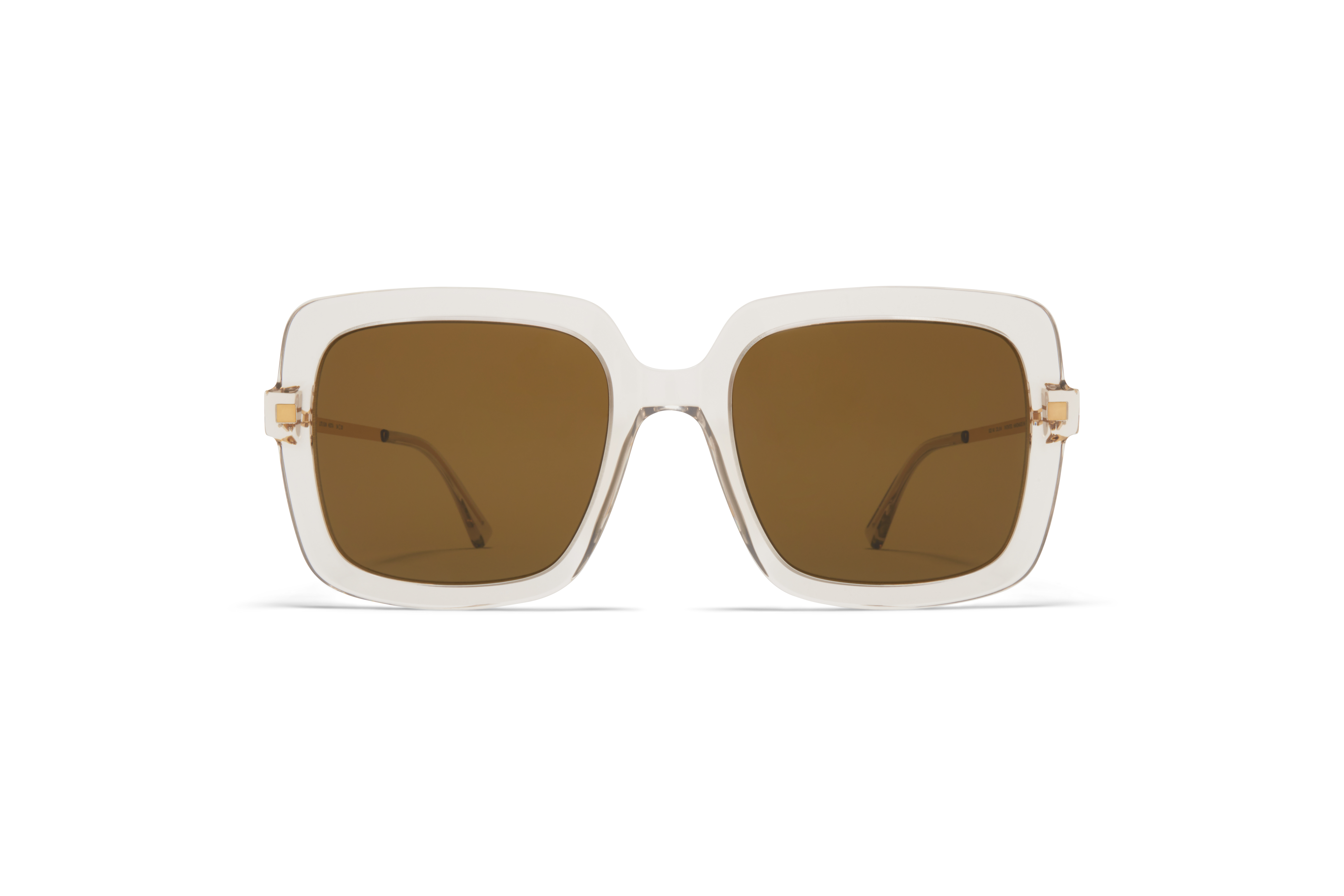 MYKITA Lite Acetate Sun Hesta C1 Champagne Glossy Gold Raw Brown Solid