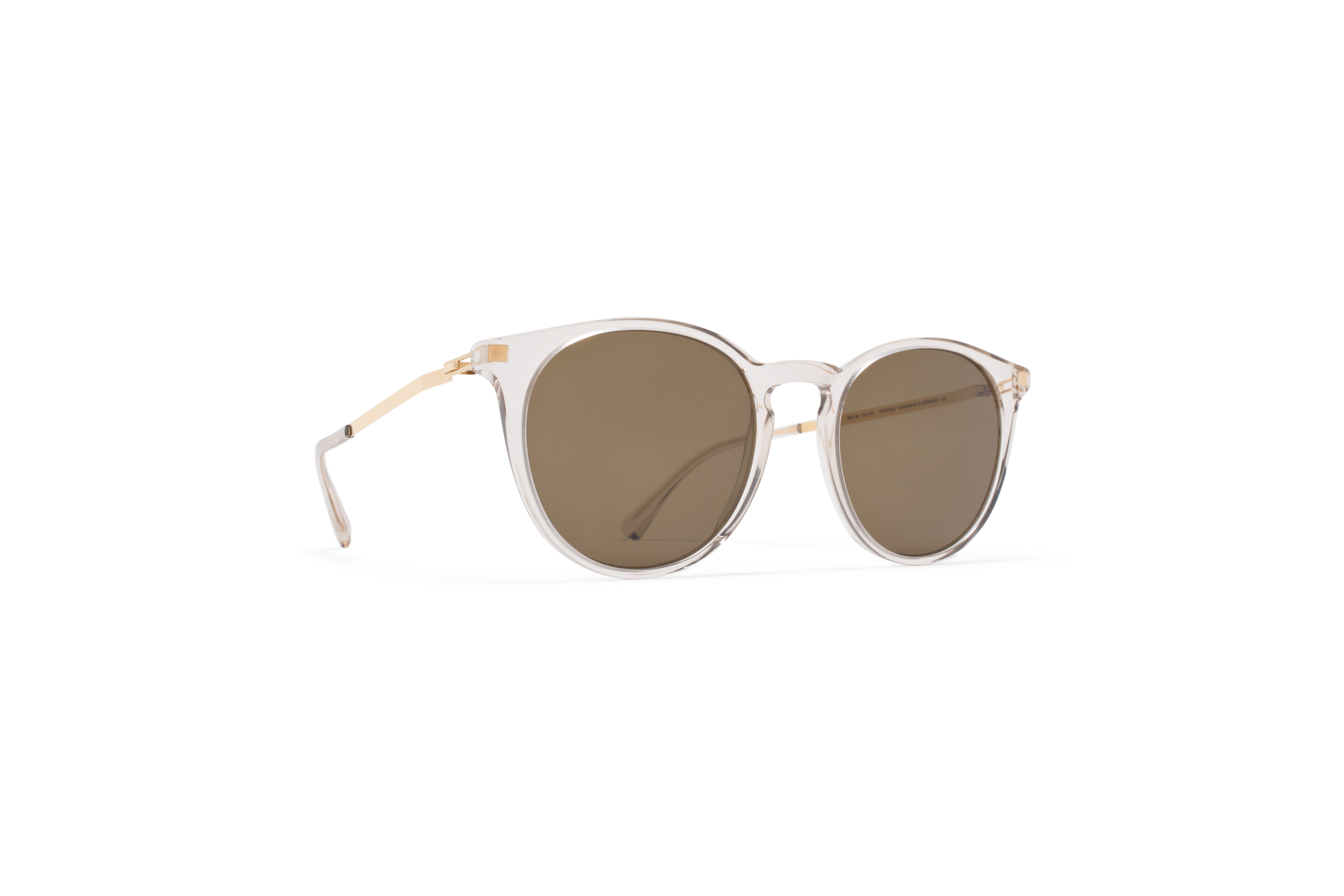 MYKITA Lite Acetate Sun Keelut C1 Champagne Glossy Gold Raw Brown Solid
