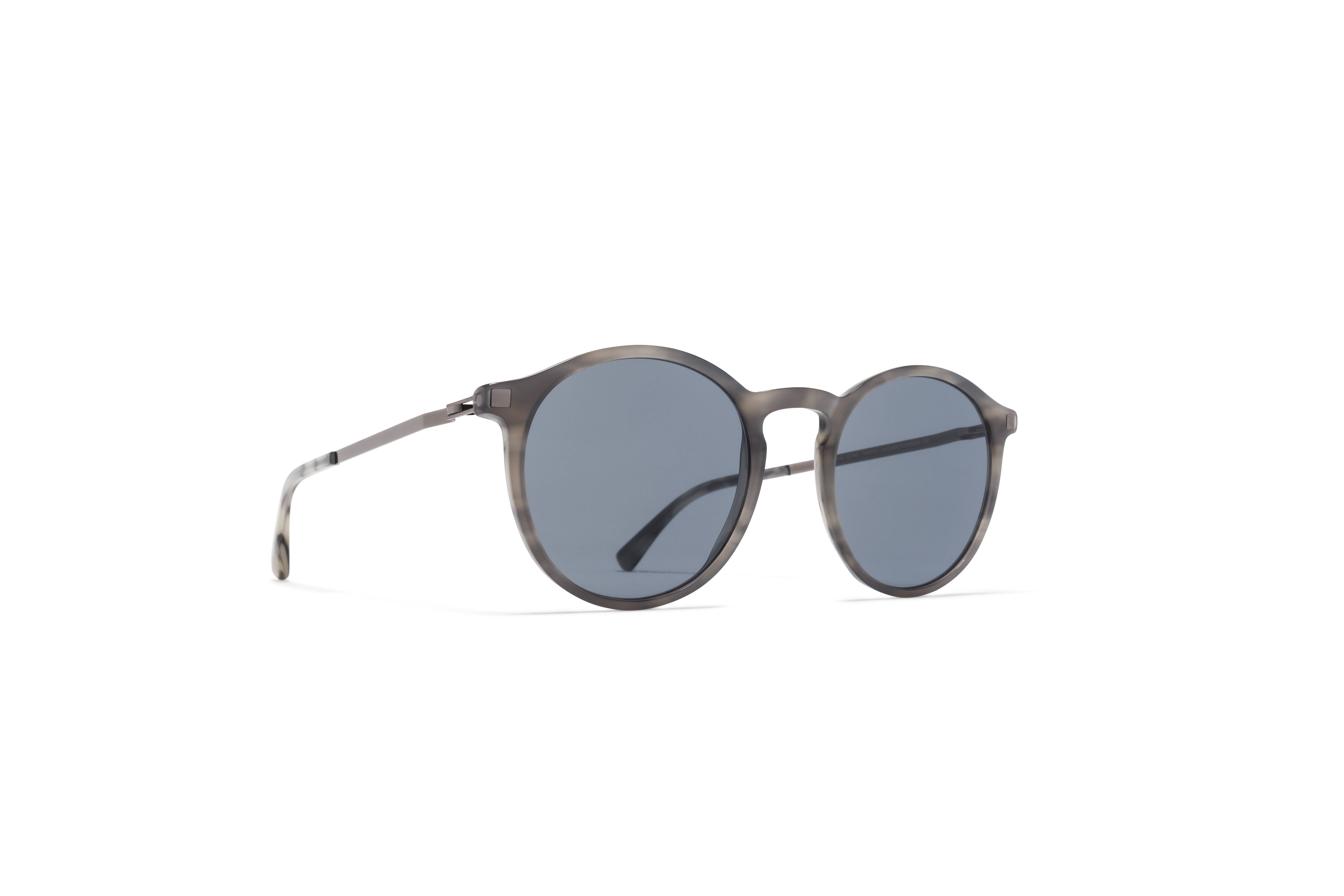 MYKITA Lite Acetate Sun Oki C44 Grey Havana Shiny Graphite Dark Blue Solid