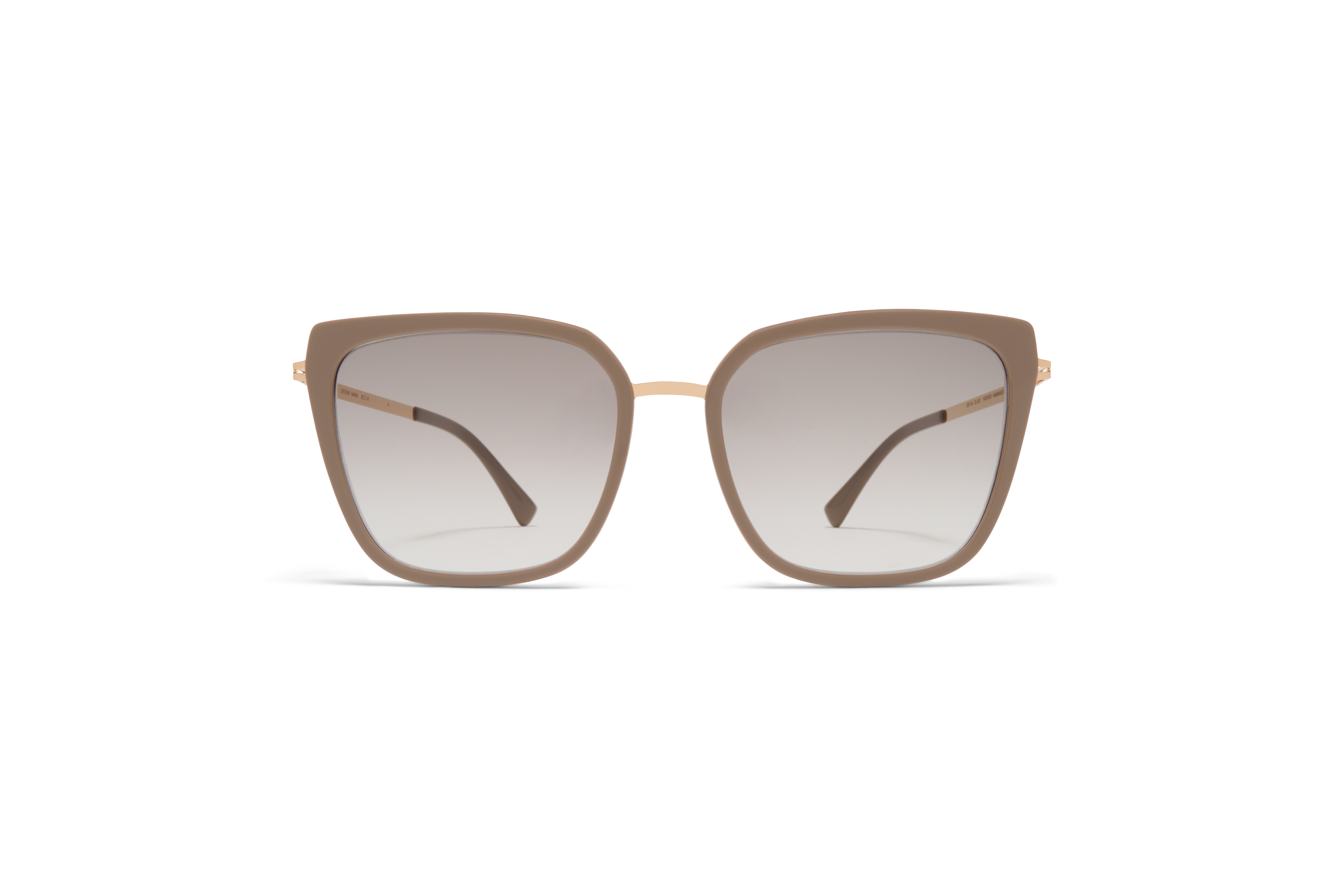 MYKITA Lite Acetate Sun Sanna A42 Champagne Gold Brown Grey Original Grey Gradient
