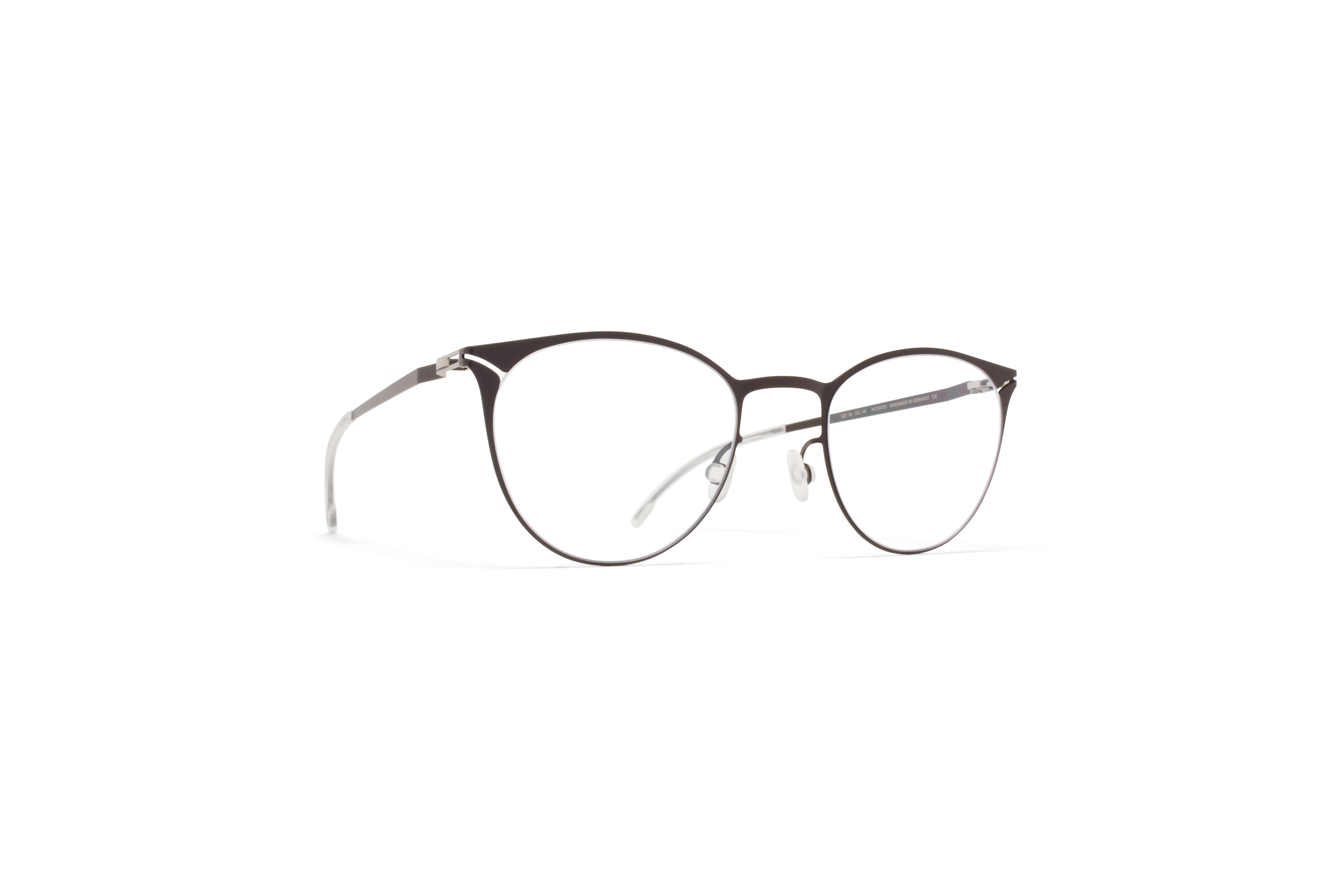 MYKITA Lite Metal Rx Gesa Darkbrown Clear