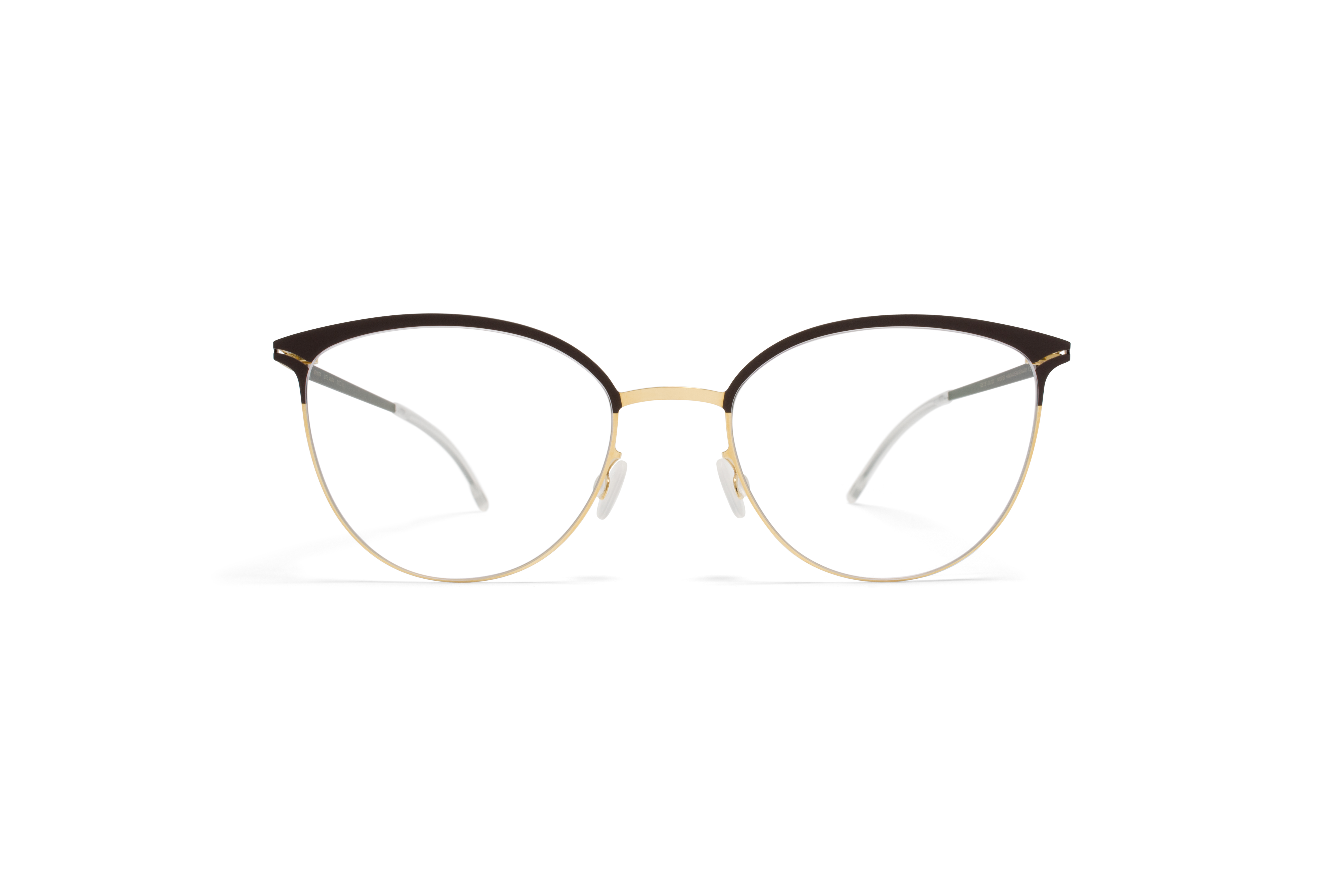 MYKITA Lite Rx Anita Gold Darkbrown Clear