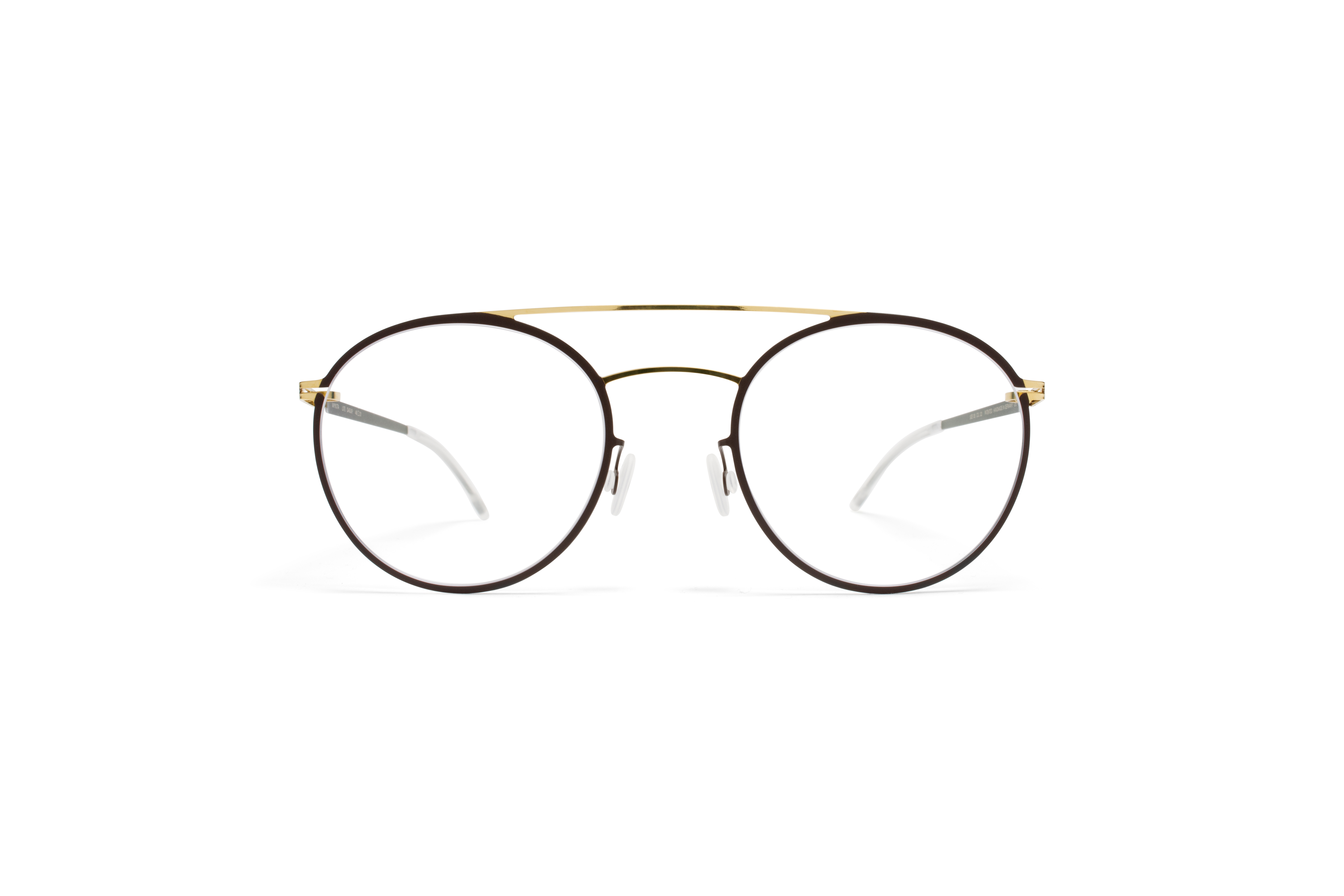 MYKITA Lite Rx Dagur Gold Darkbrown Clear