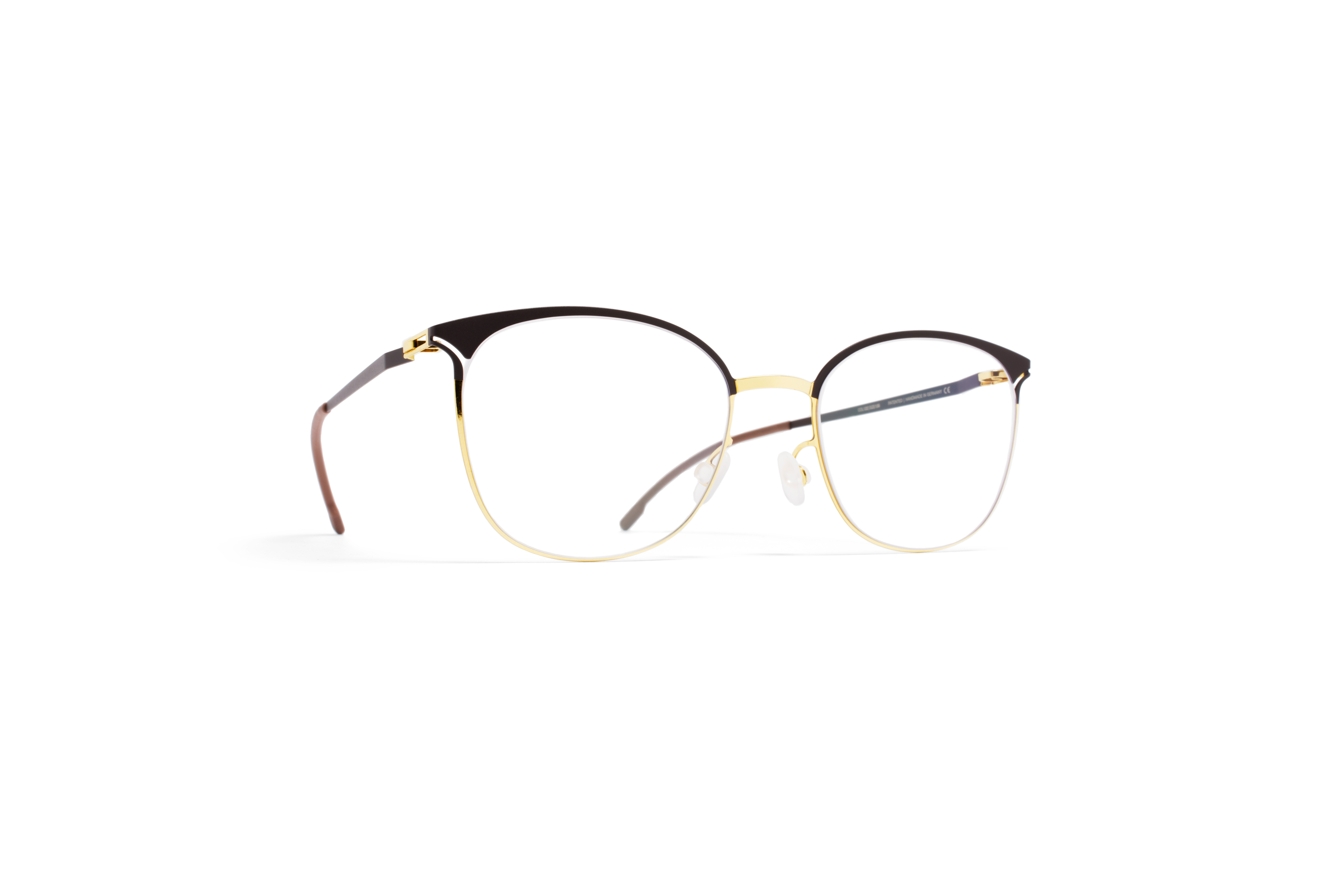 MYKITA Lite Rx Edda Gold Darkbrown Clear