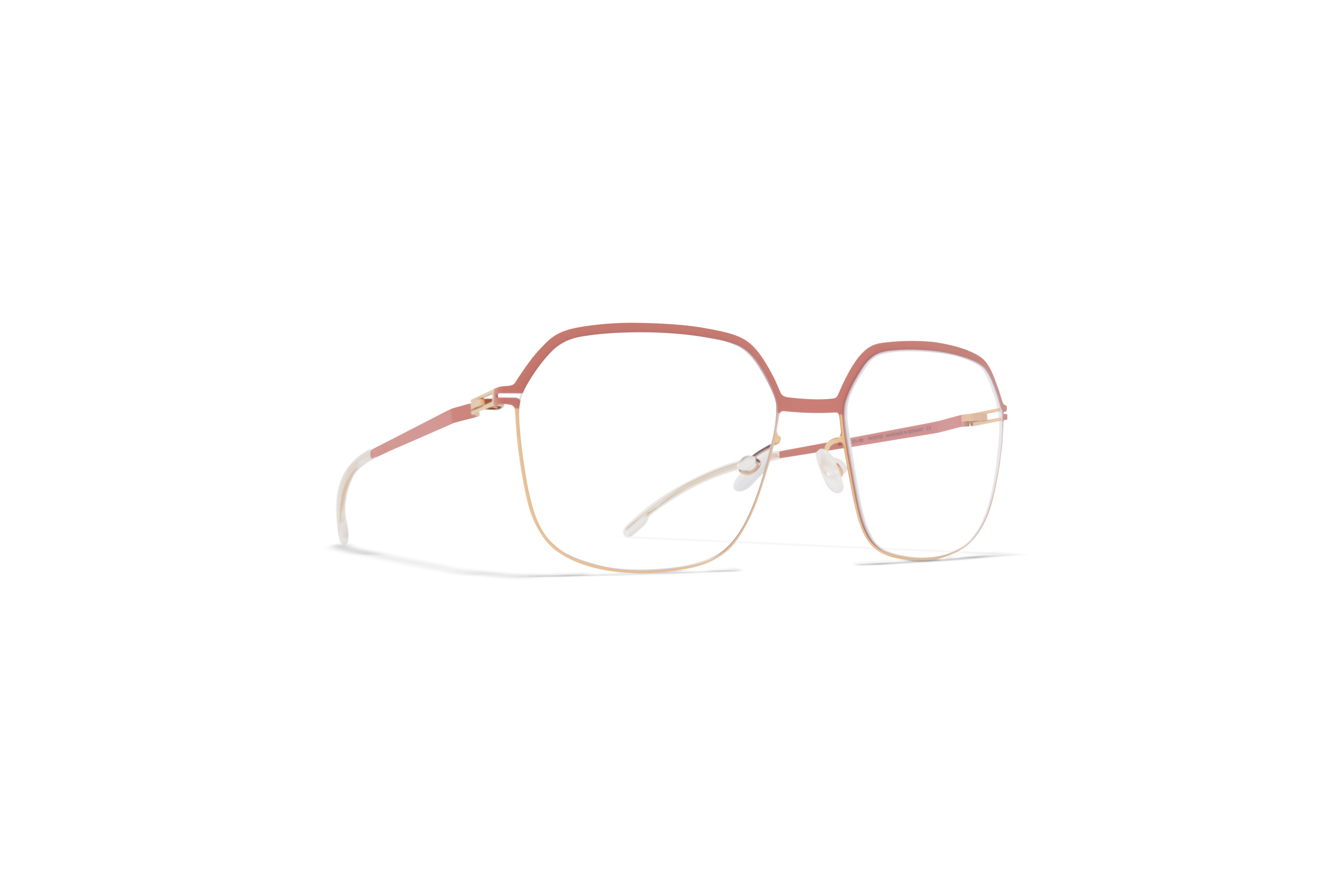 MYKITA Lite Rx Finna Champagne Gold Pink Clay Clear