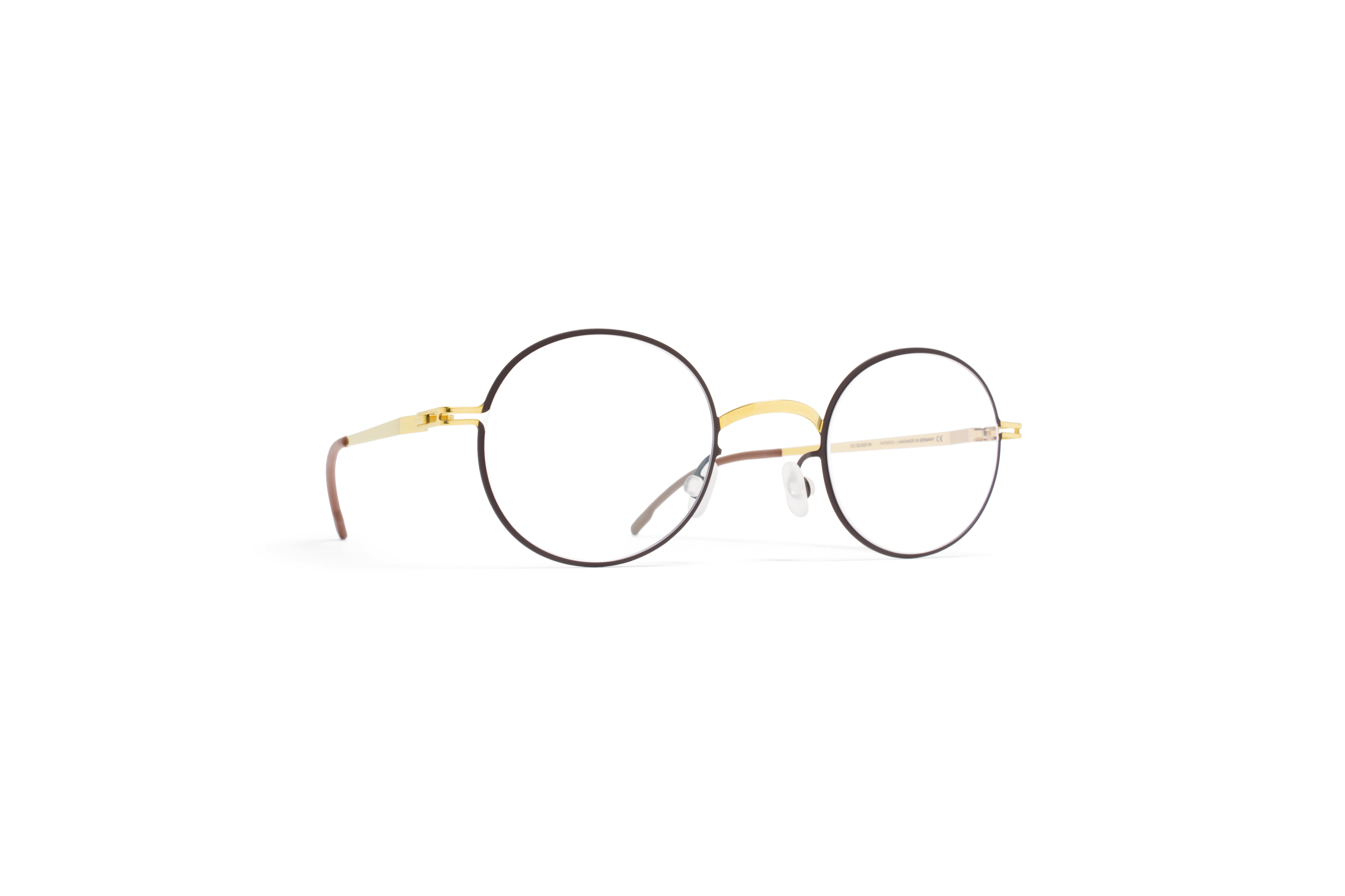 MYKITA Lite Rx Finvid Gold Darkbrown Clear