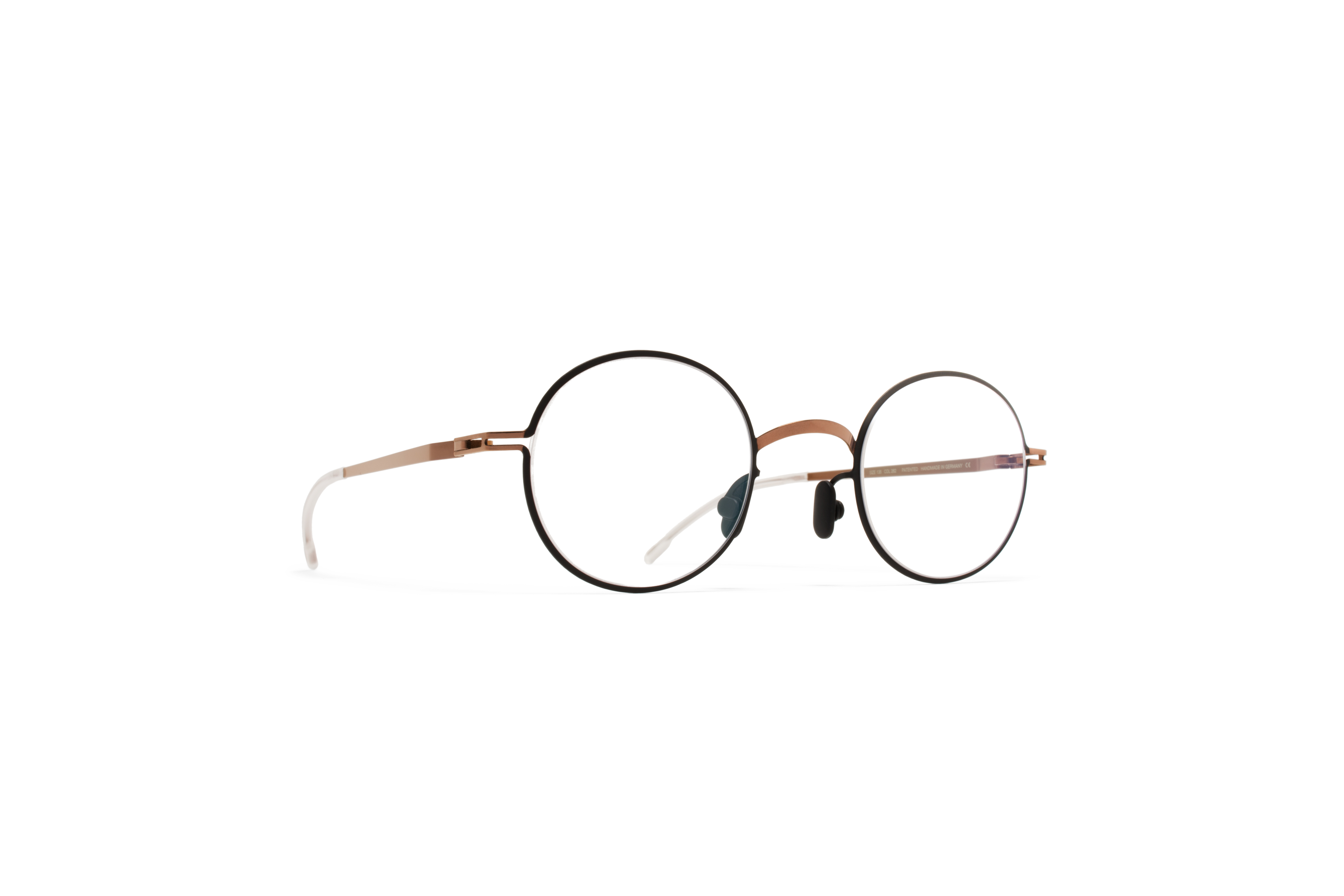 MYKITA Lite Rx Finvid Shinycopper Black Clear