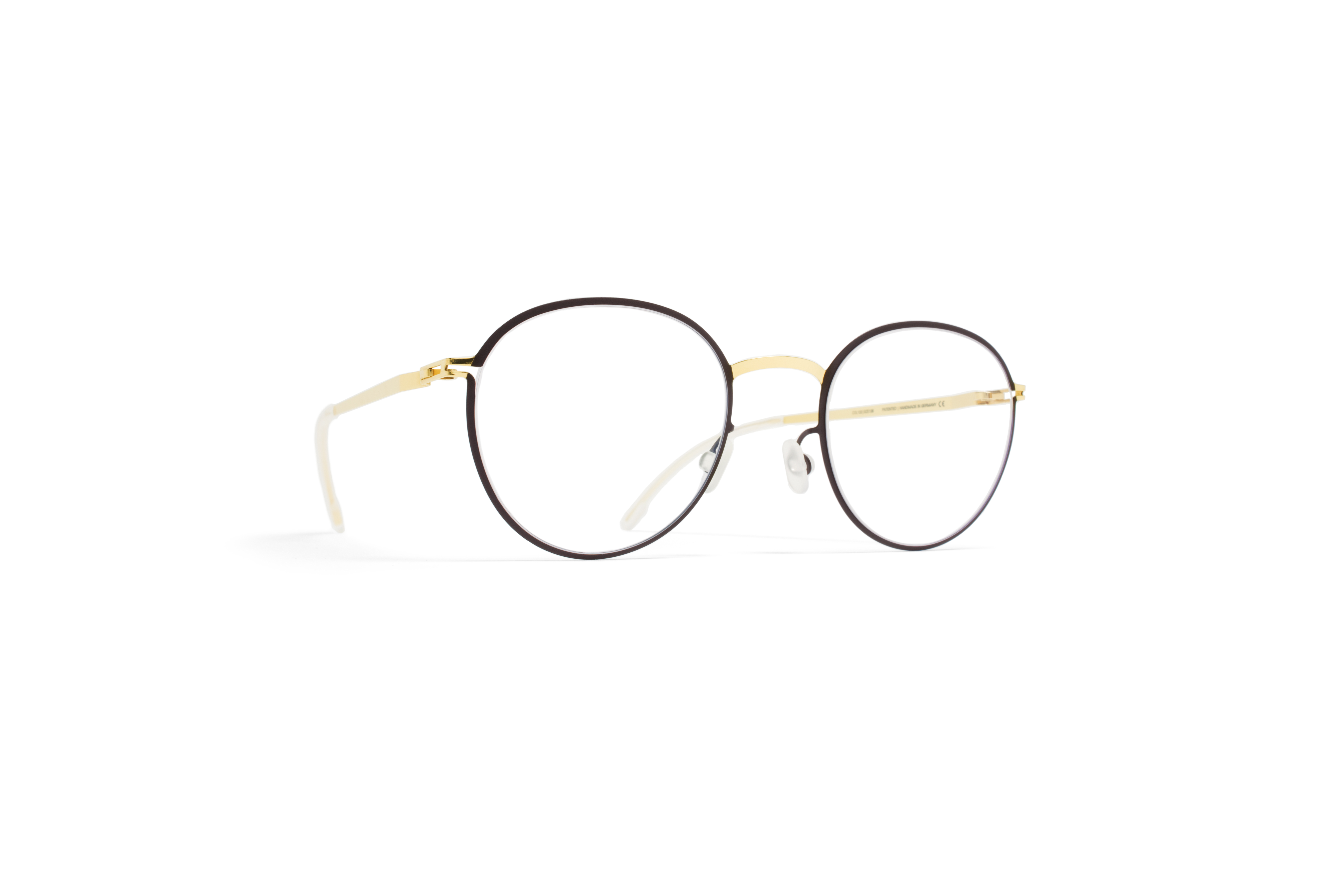 MYKITA Lite Rx Jais Gold Darkbrown Clear