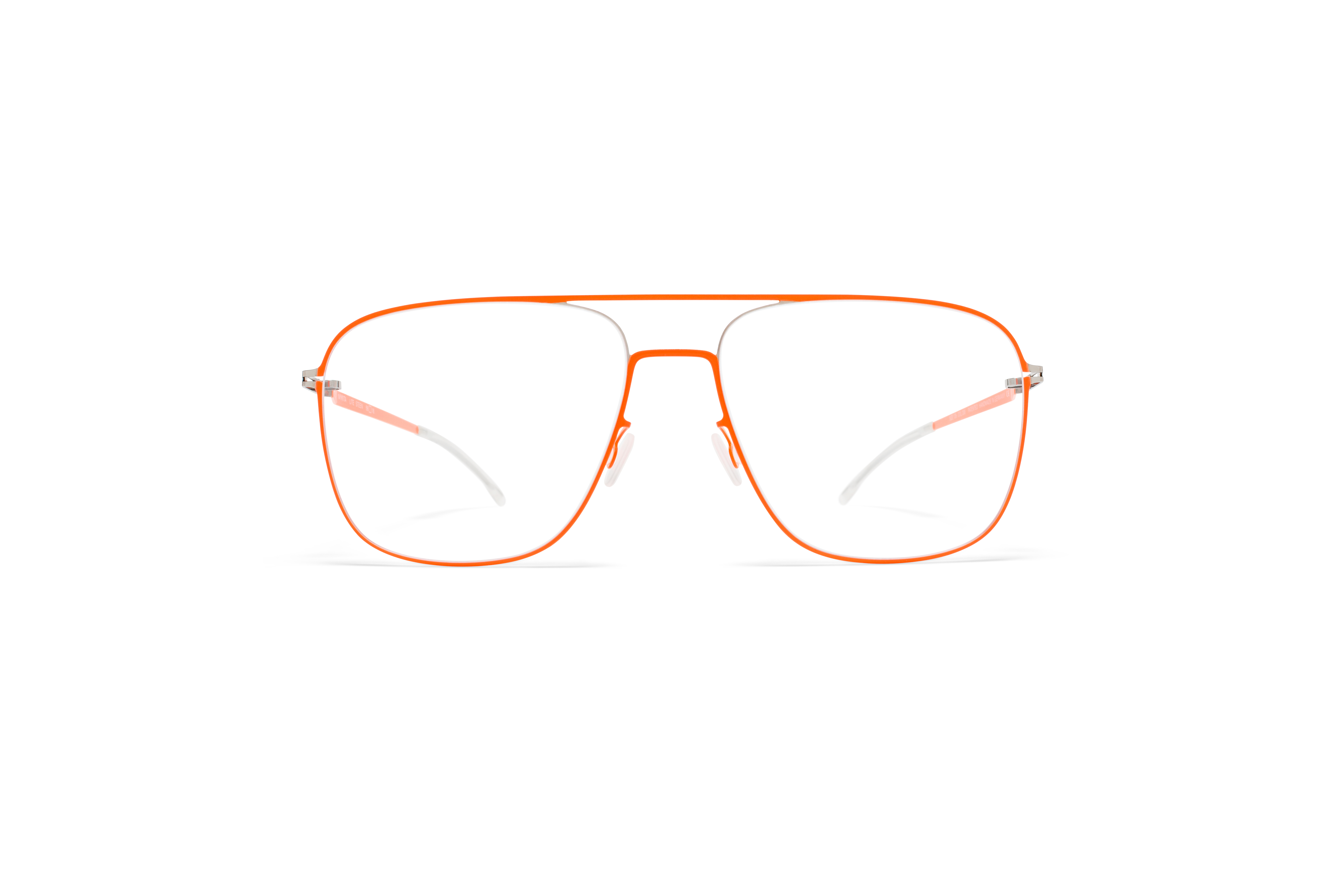MYKITA Lite Rx Steen Silver Neon Orange Clear
