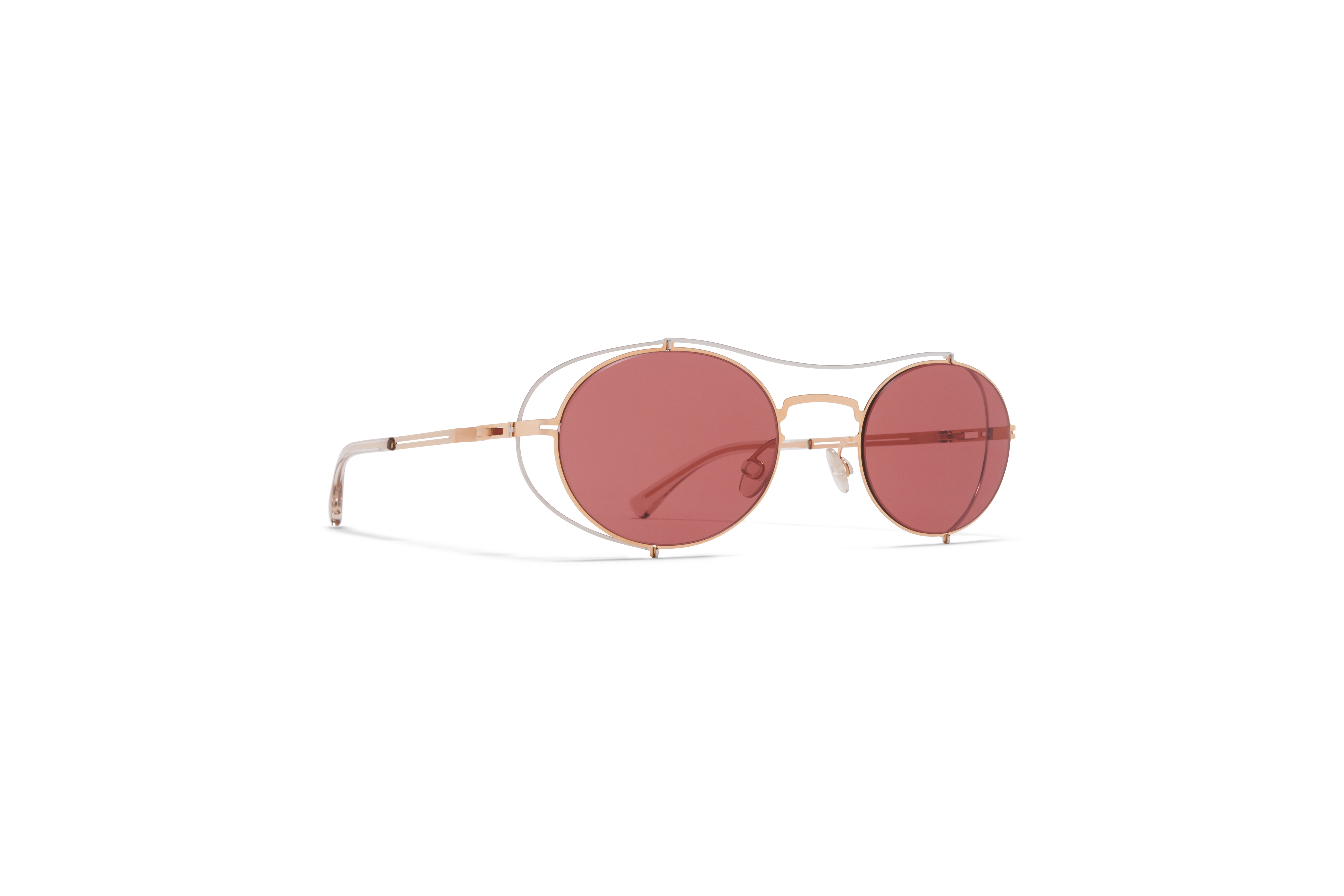 MYKITA Mm Sun Mmcraft002 Silver Champagne Gold Purple Solid