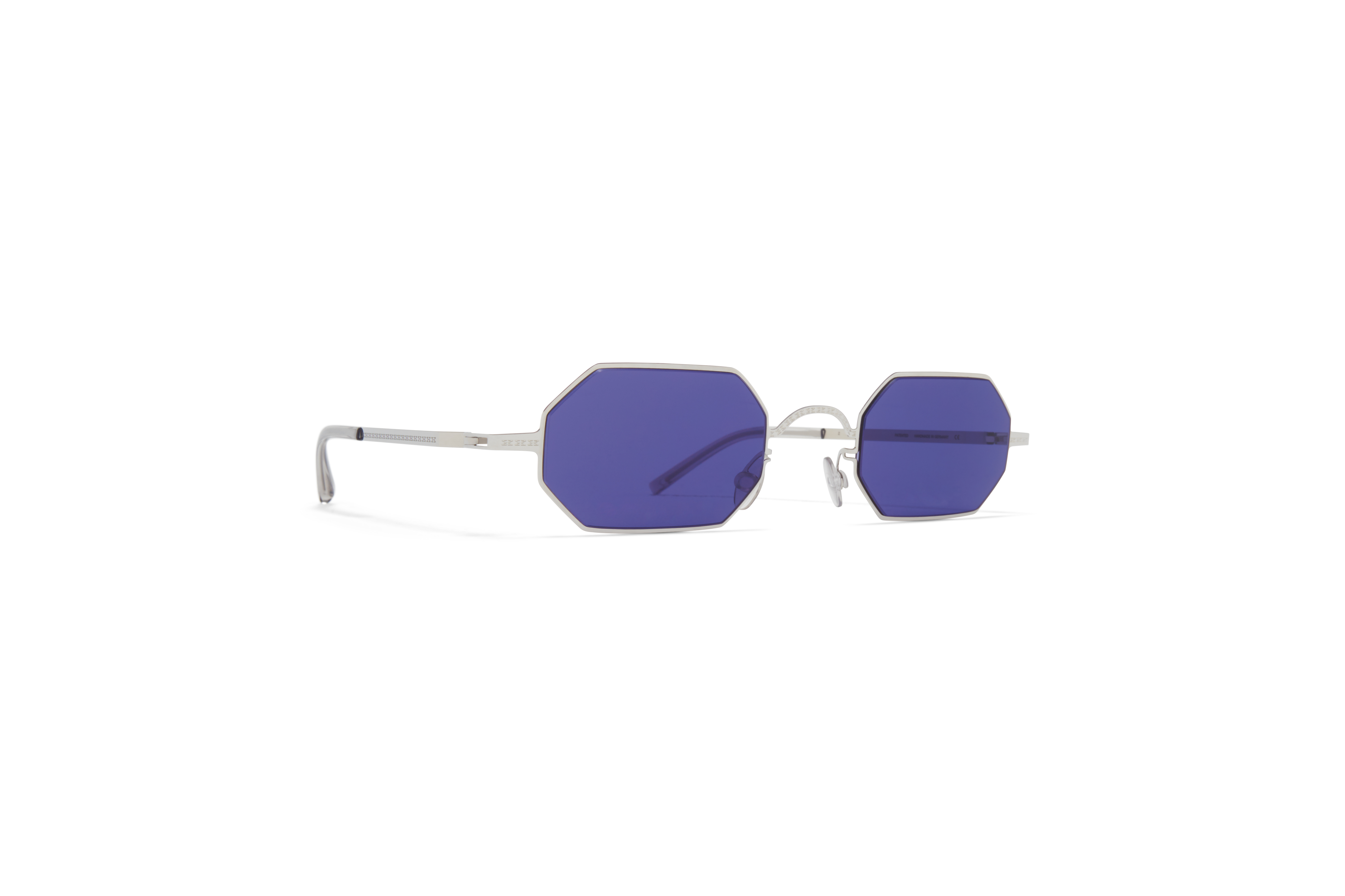 MYKITA Mm Sun Mmcraft004 Shiny Silver Indigo Solid