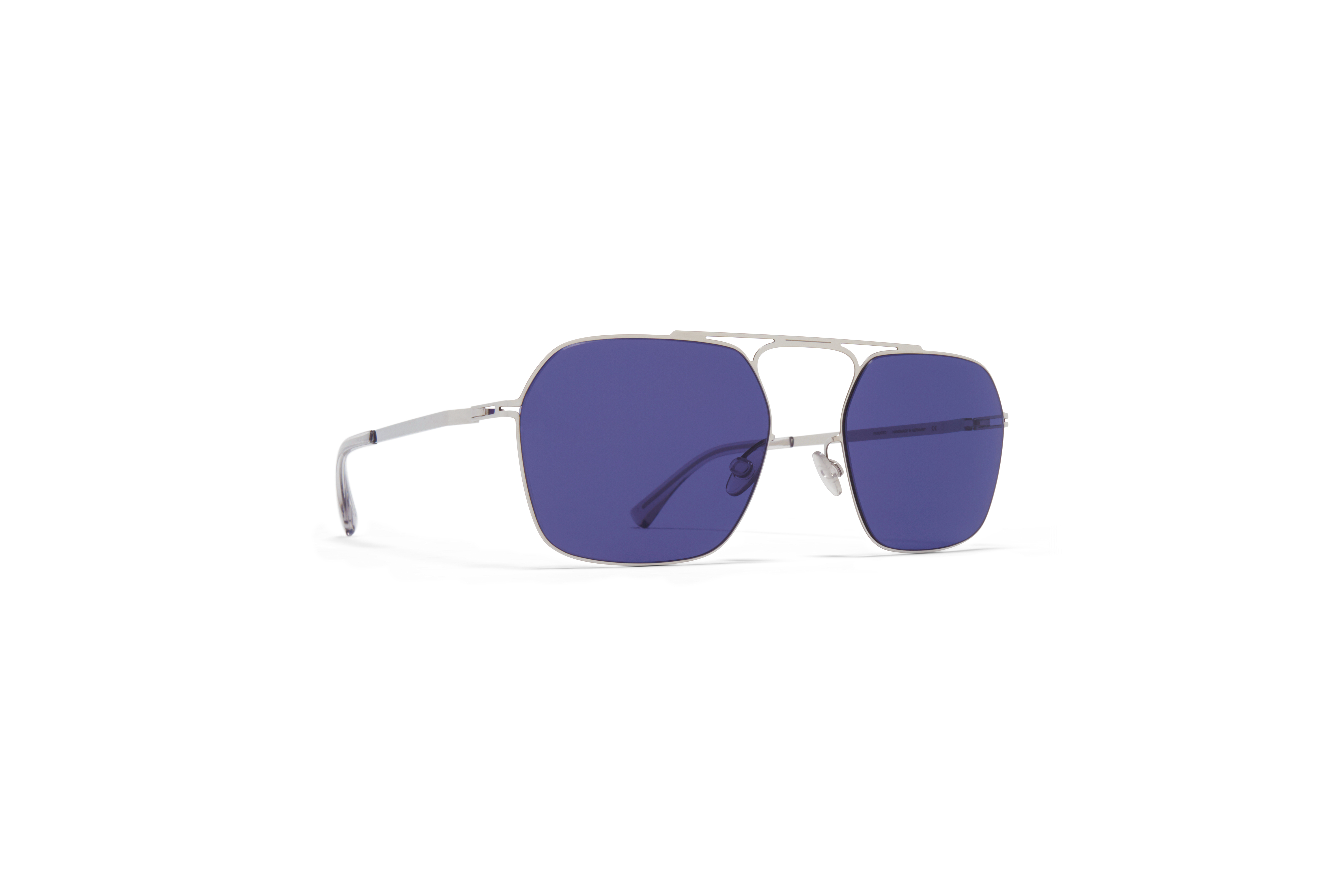 MYKITA Mm Sun Mmcraft012 Shiny Silver Indigo Solid
