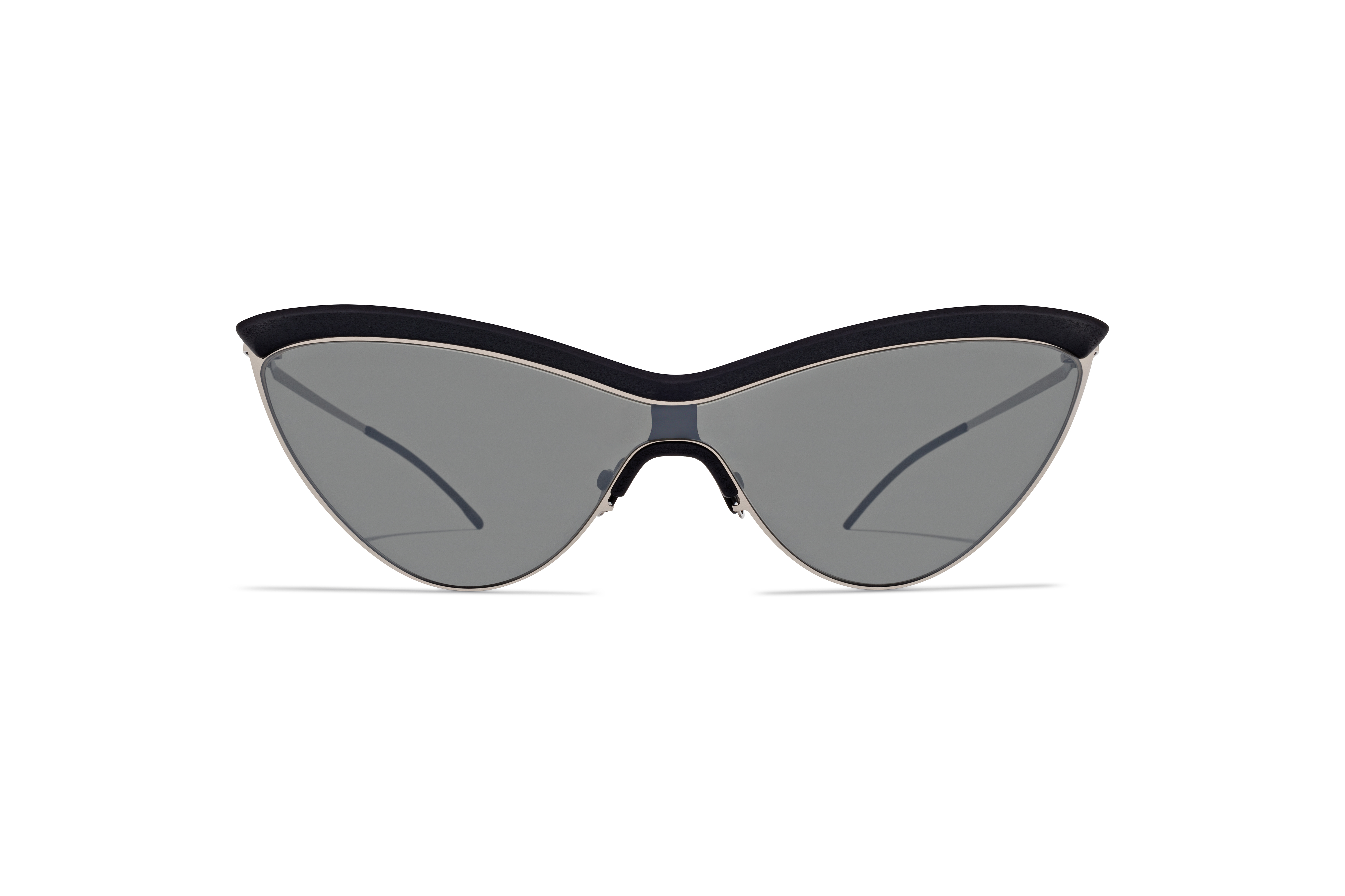 MYKITA Mm Sun Mmecho002 Mh22 Pitch Black Shinysilver Silver Flash Shield