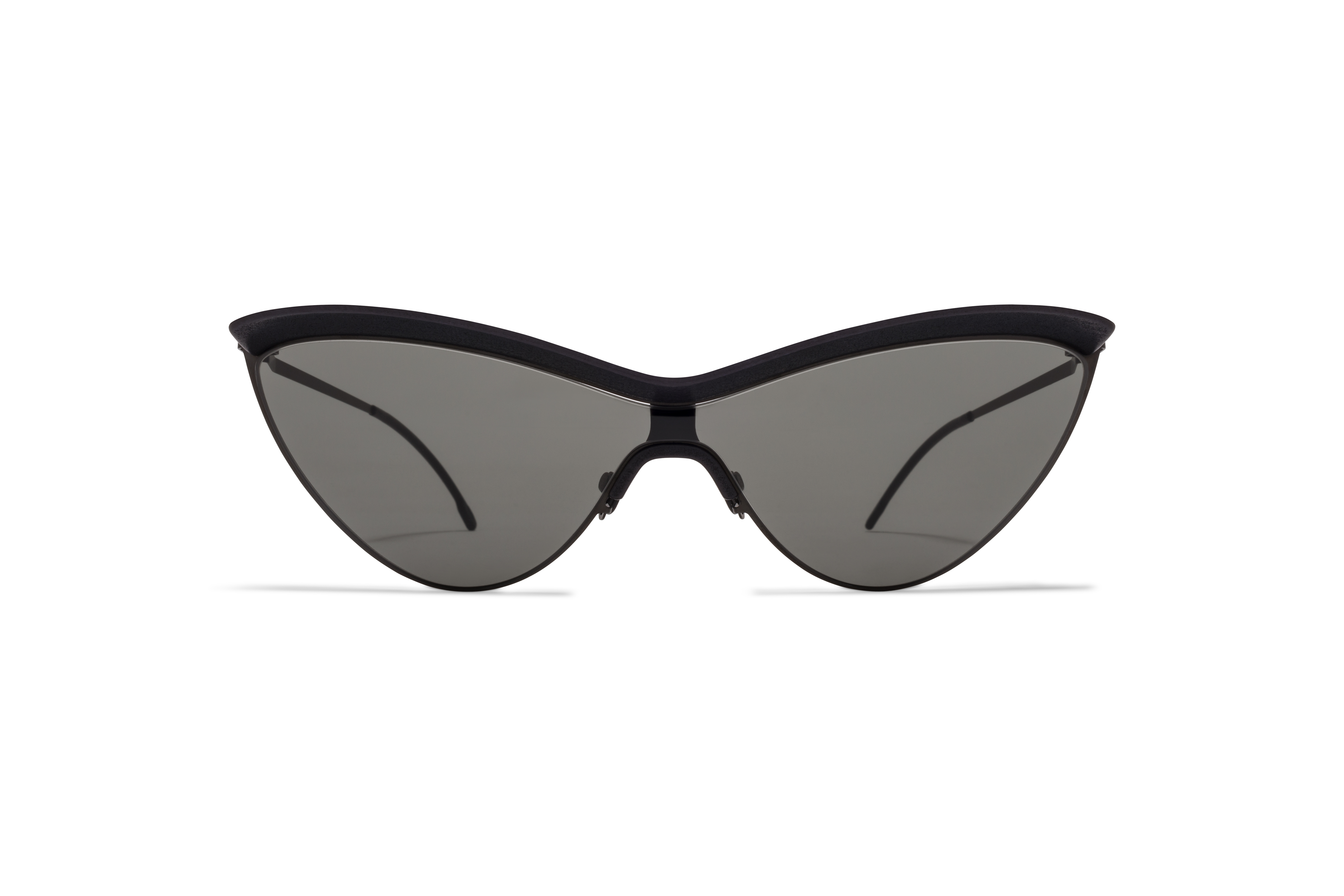 MYKITA Mm Sun Mmecho002 Mh6 Pitch Black Black Dark Grey Solid Shield