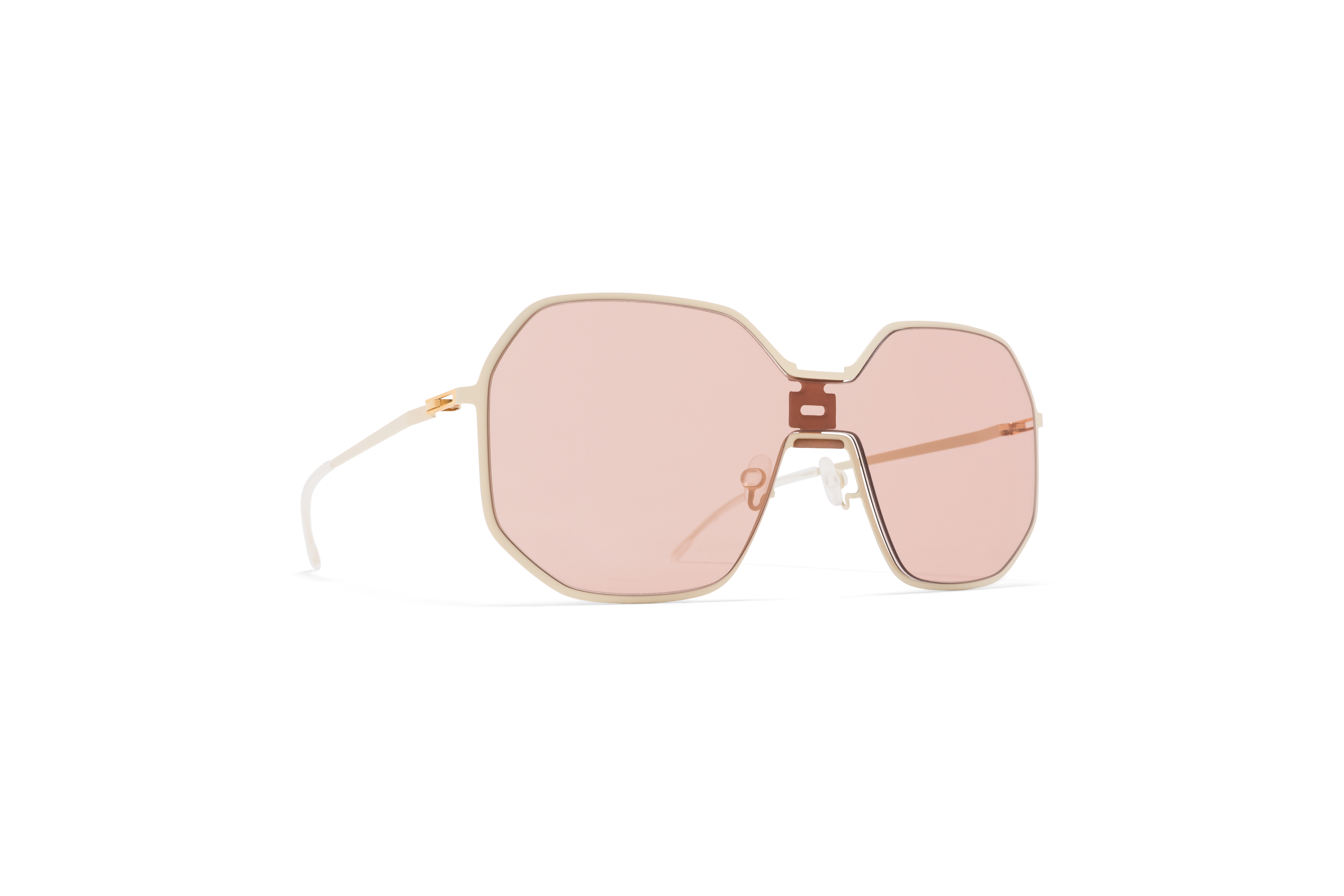 MYKITA Mm Sun Mmecho003 Mh21 Nude Off White Nude Solid Shield