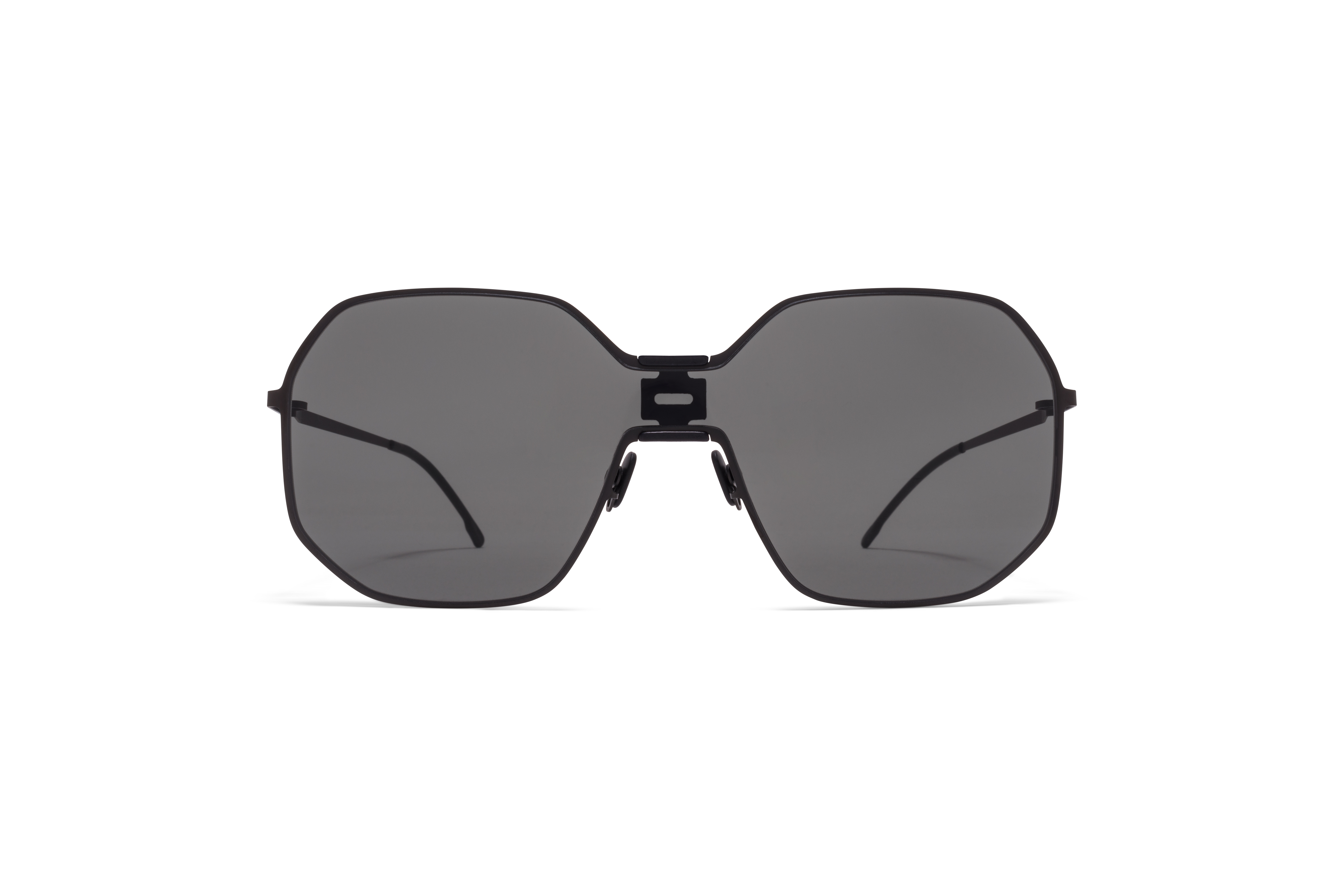 MYKITA Mm Sun Mmecho003 Mh6 Pitch Black Black Dark Grey Solid Shield