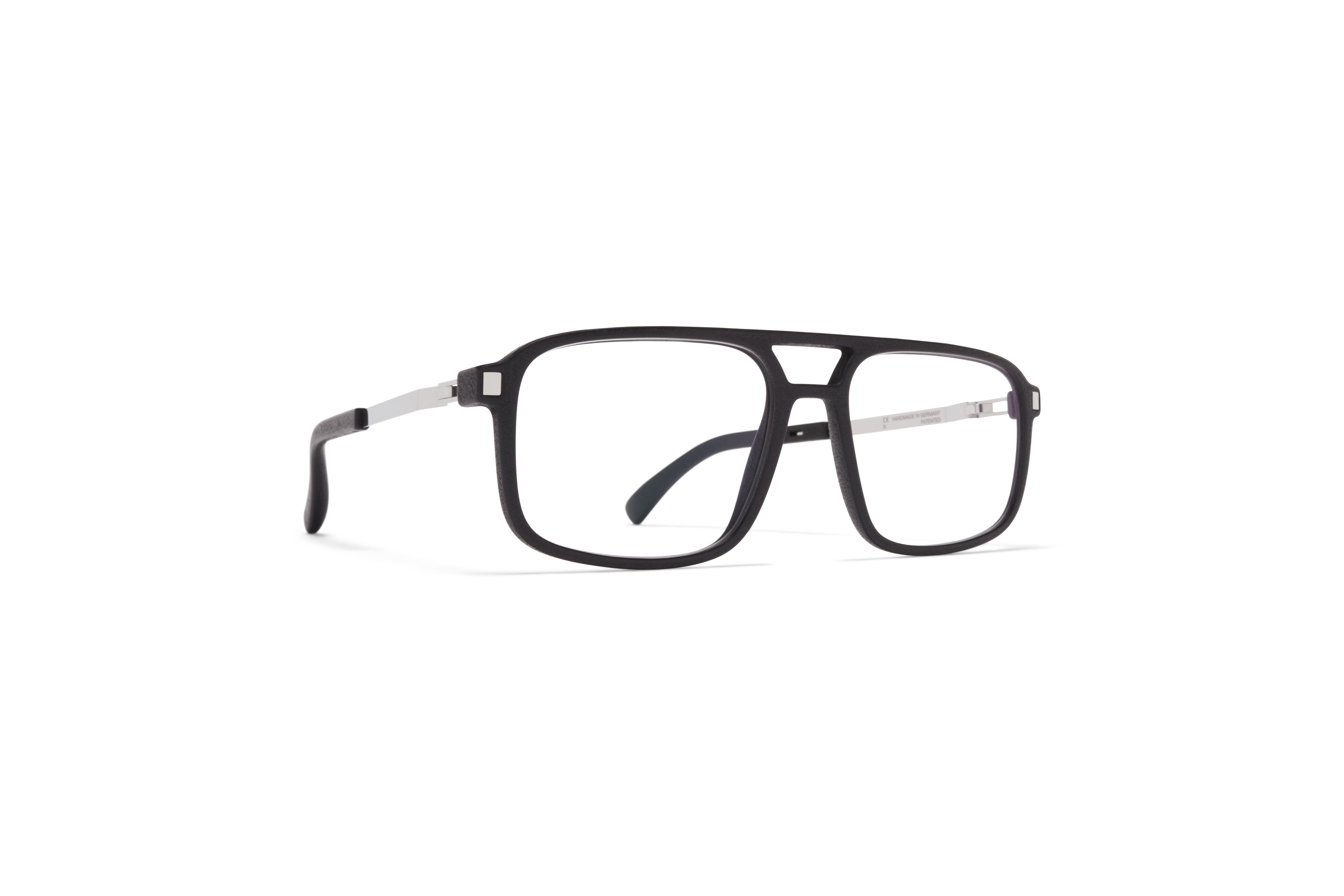 MYKITA Mylon Hybrid Rx Ash Mh22 Pitch Black Shiny Silver Clear