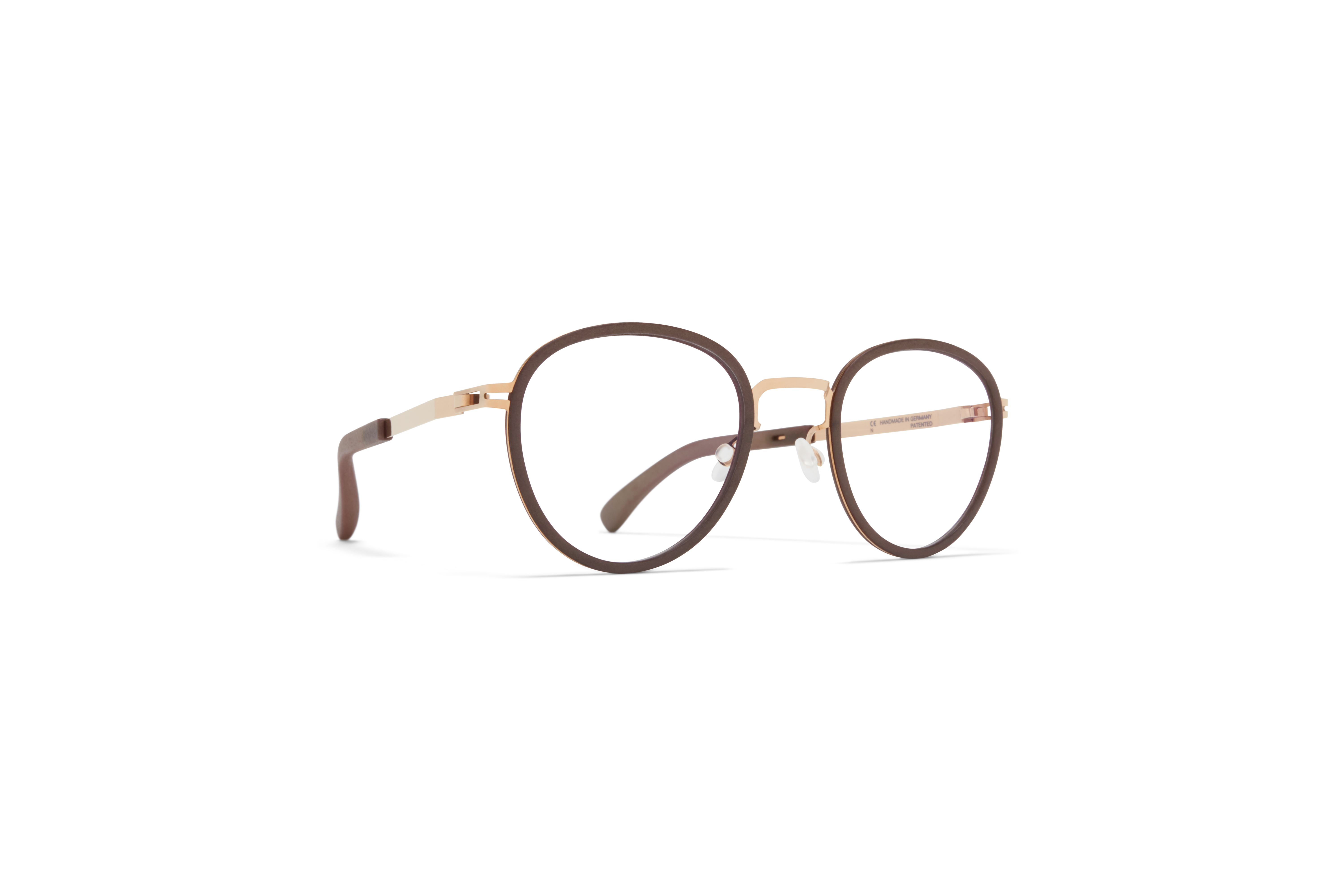 MYKITA Mylon Hybrid Rx Palm Mh17 Taupe Grey Champagne Gold Clear