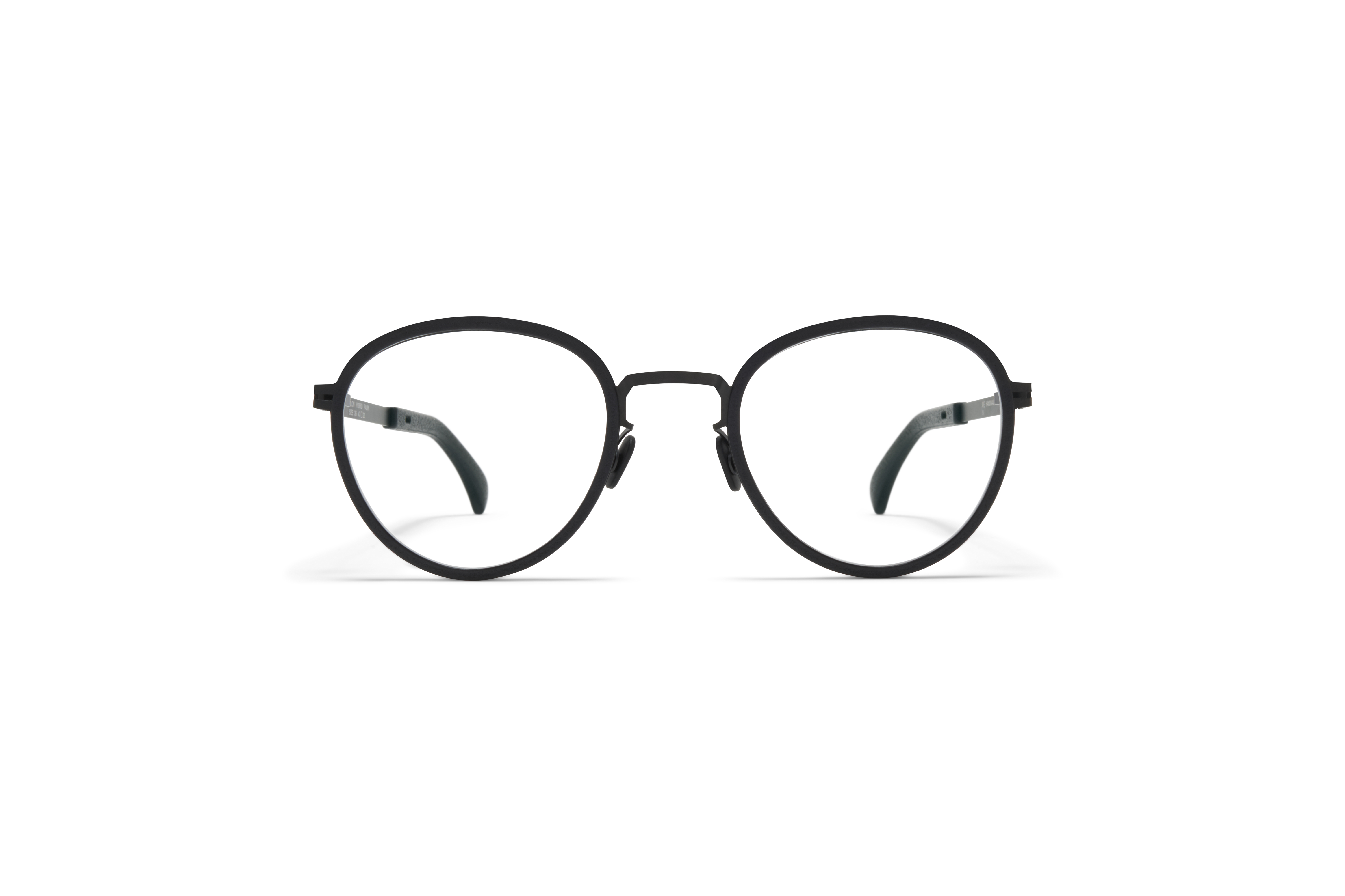 MYKITA Mylon Hybrid Rx Palm Mh6 Pitch Black Black Clear