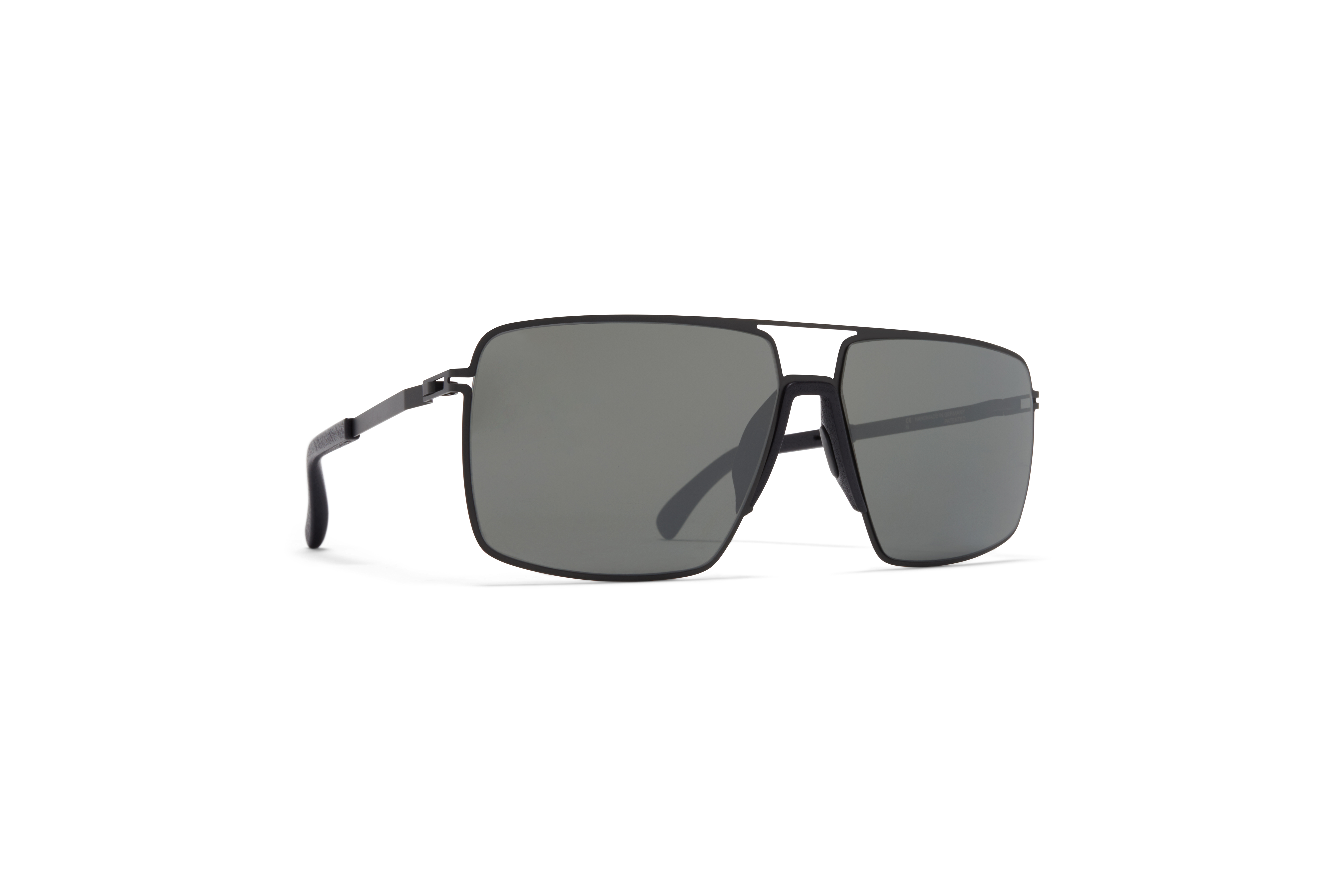 MYKITA Mylon Hybrid Sun Lotus Mh1 Black Pitch Black Mirror Black