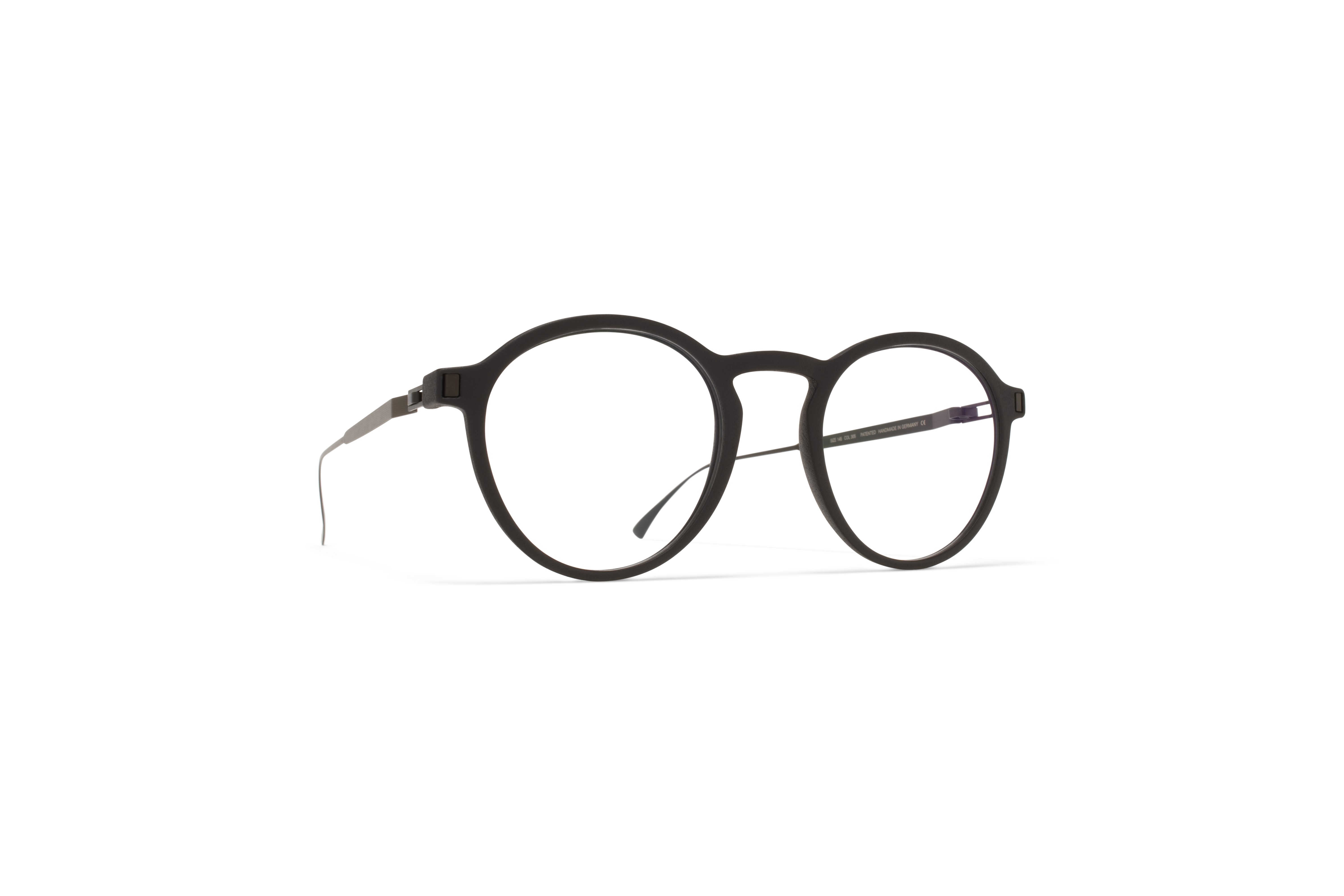 MYKITA Mylon Rx Acai Mh6 Pitch Black Black Clear