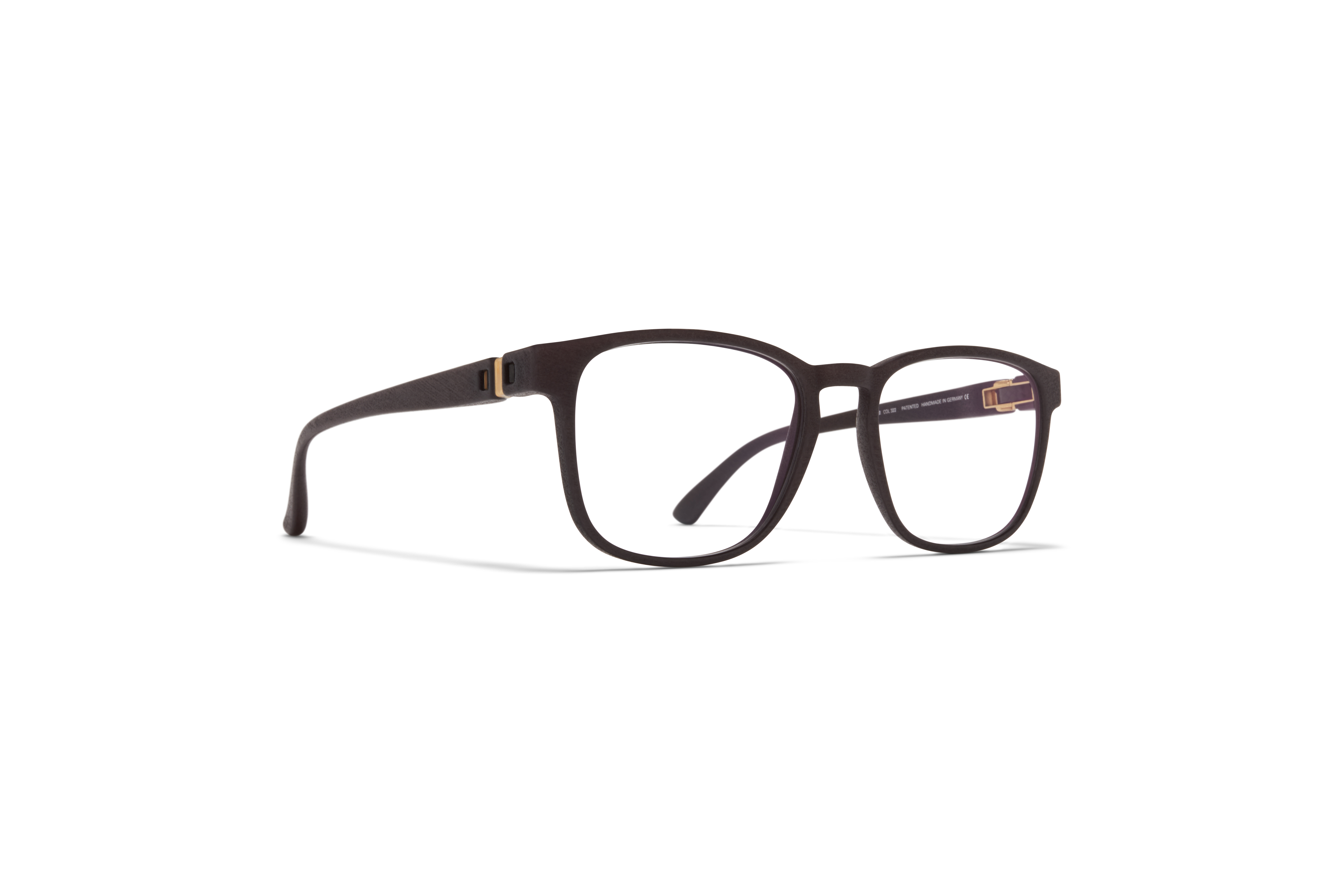 MYKITA Mylon Rx Anubis Md22 Ebony Brown Clear