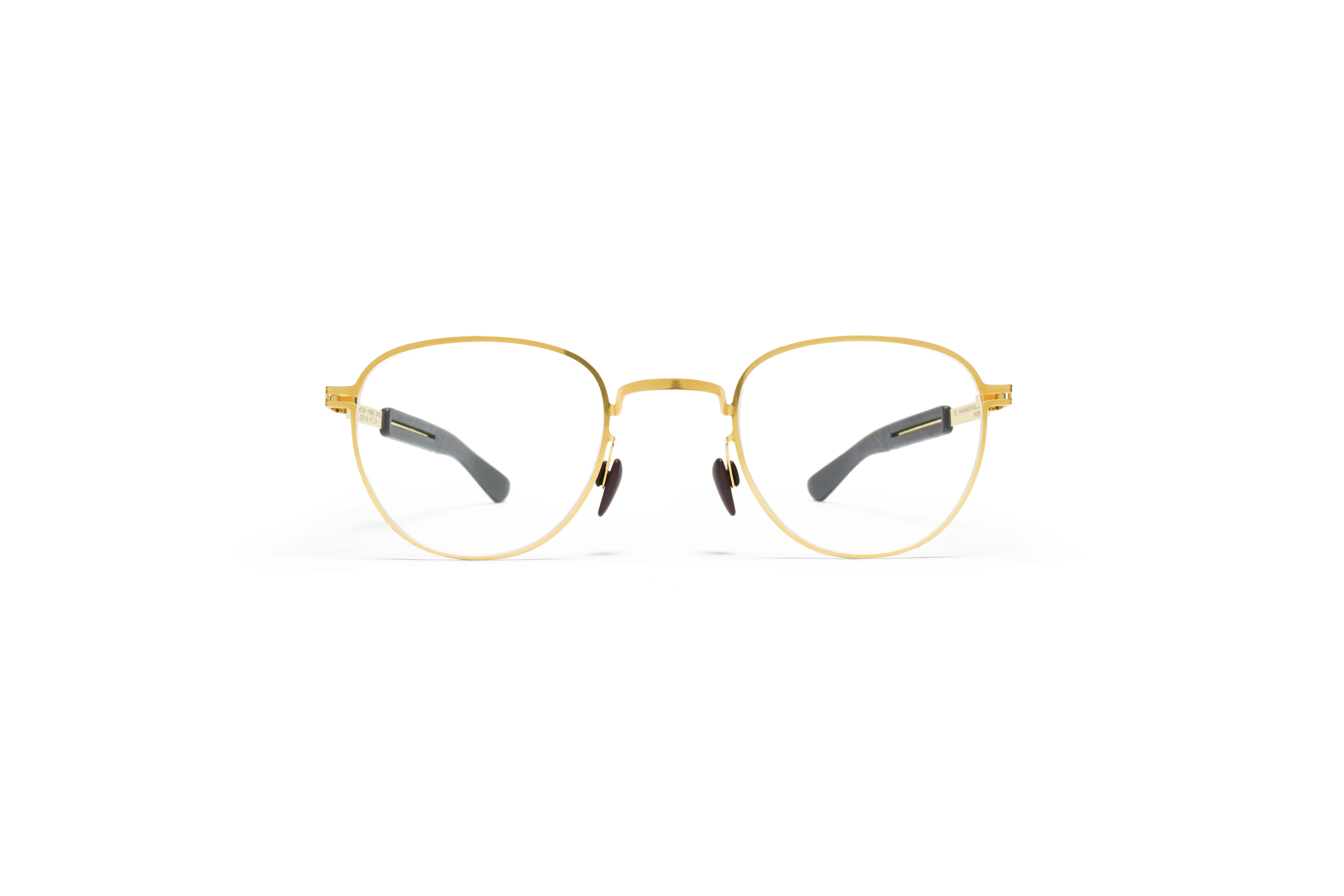 MYKITA Mylon Rx Basil Mh2 Gold Ebony Brown Clear