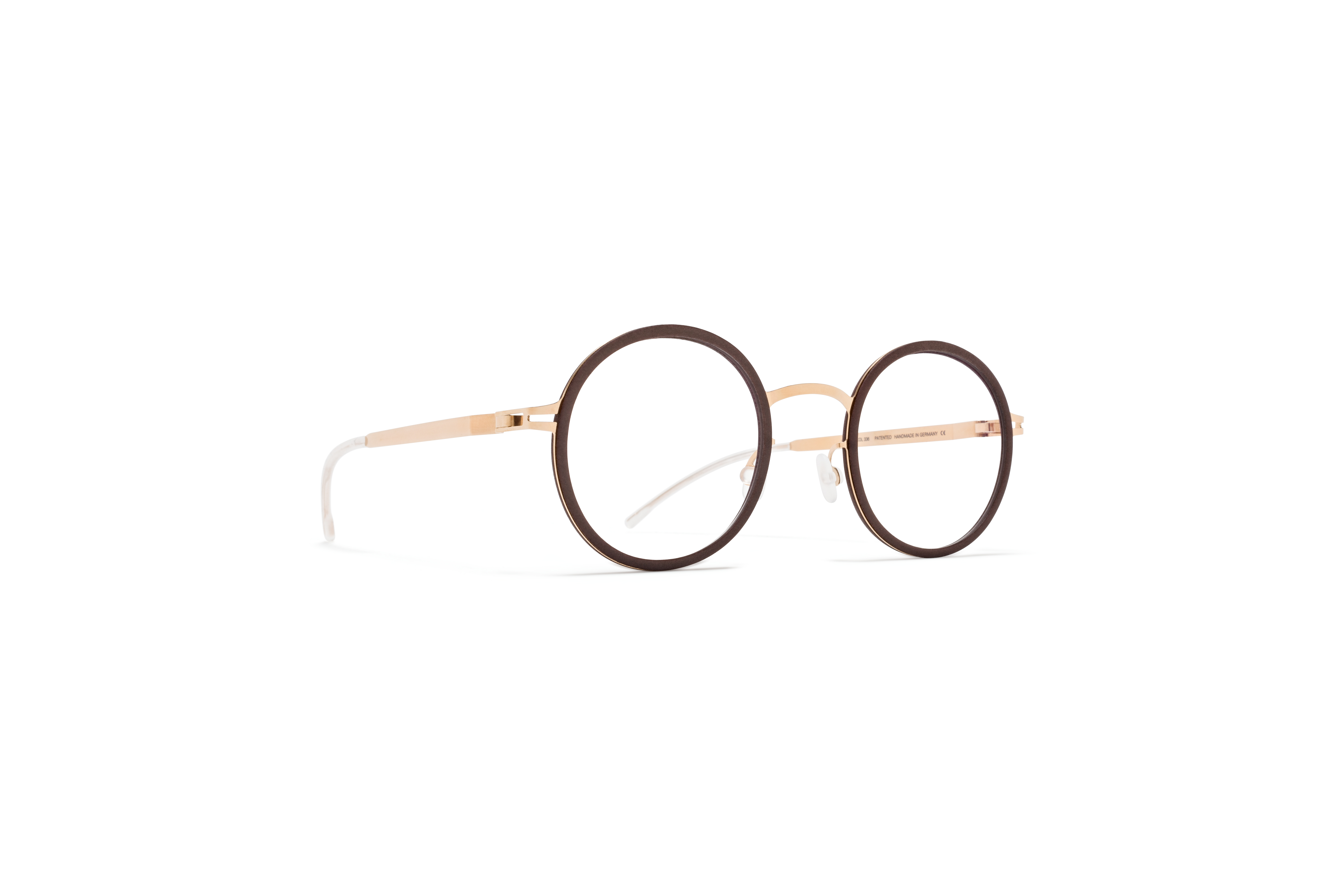 MYKITA Mylon Rx Fern Mh17 Taupe Grey Champagne Gold Clear