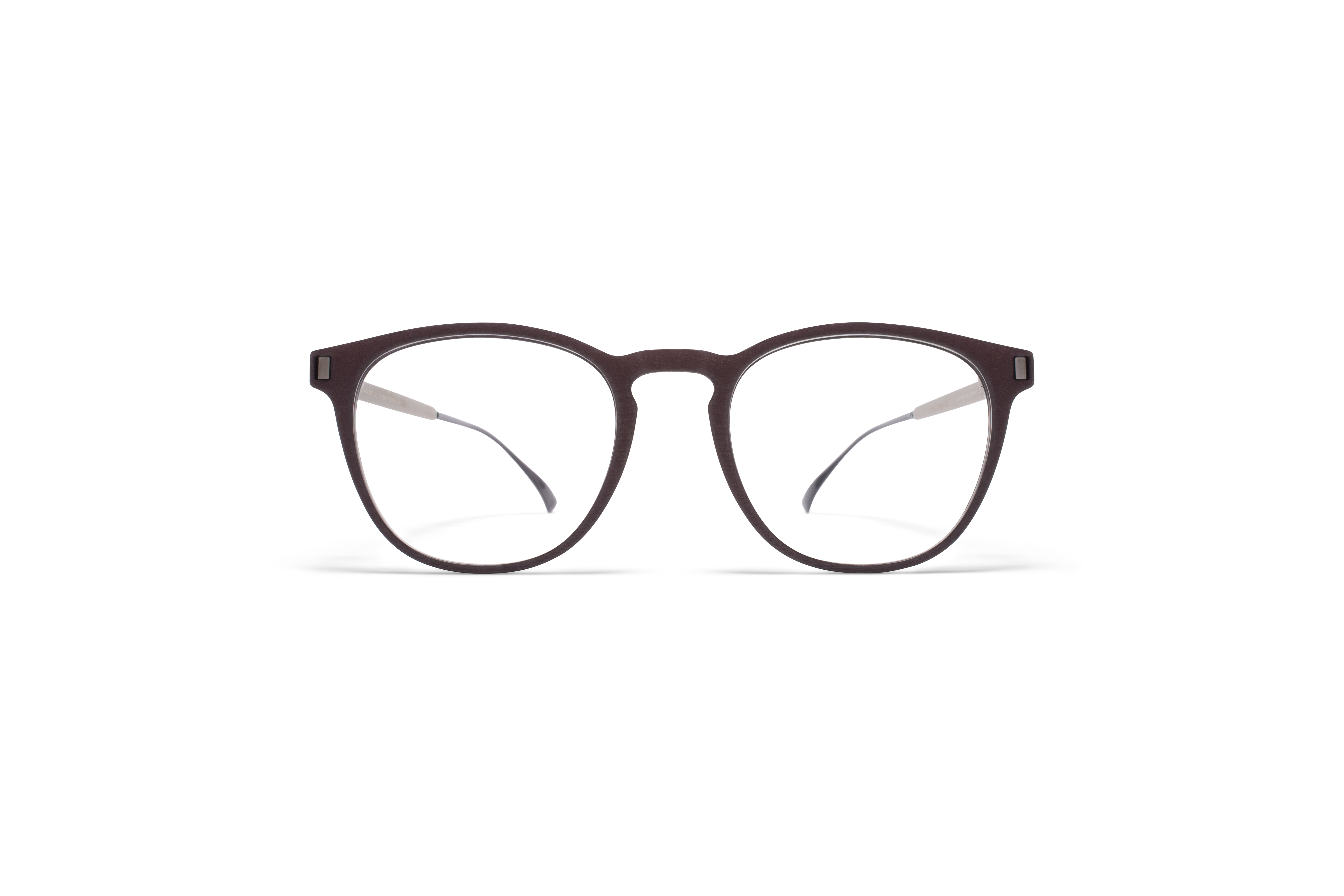 MYKITA Mylon Rx Guava Mh25 Ebony Brown Shiny Graphite Clear