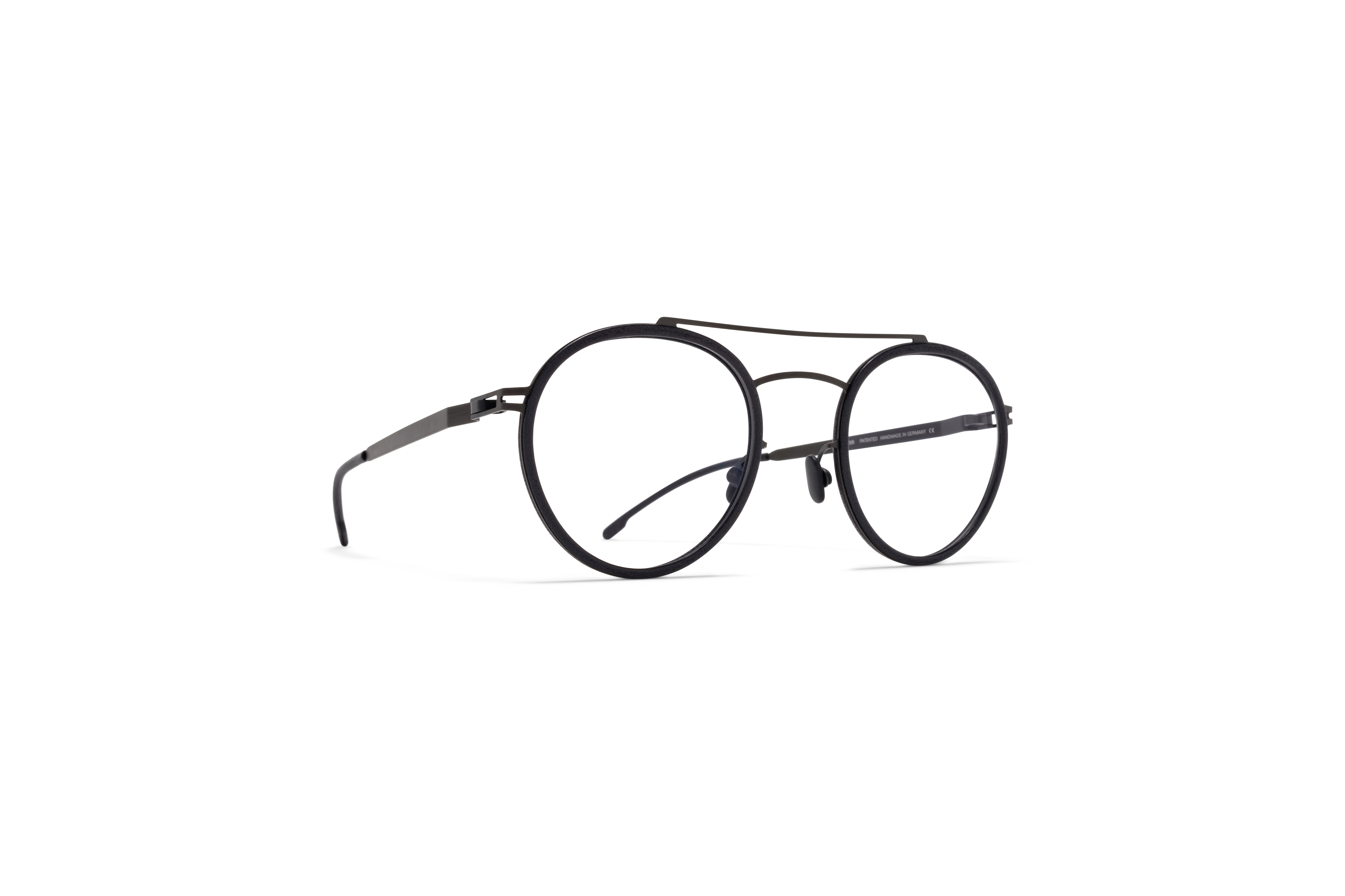 MYKITA Mylon Rx Hay Mh6 Pitch Black Black Clear