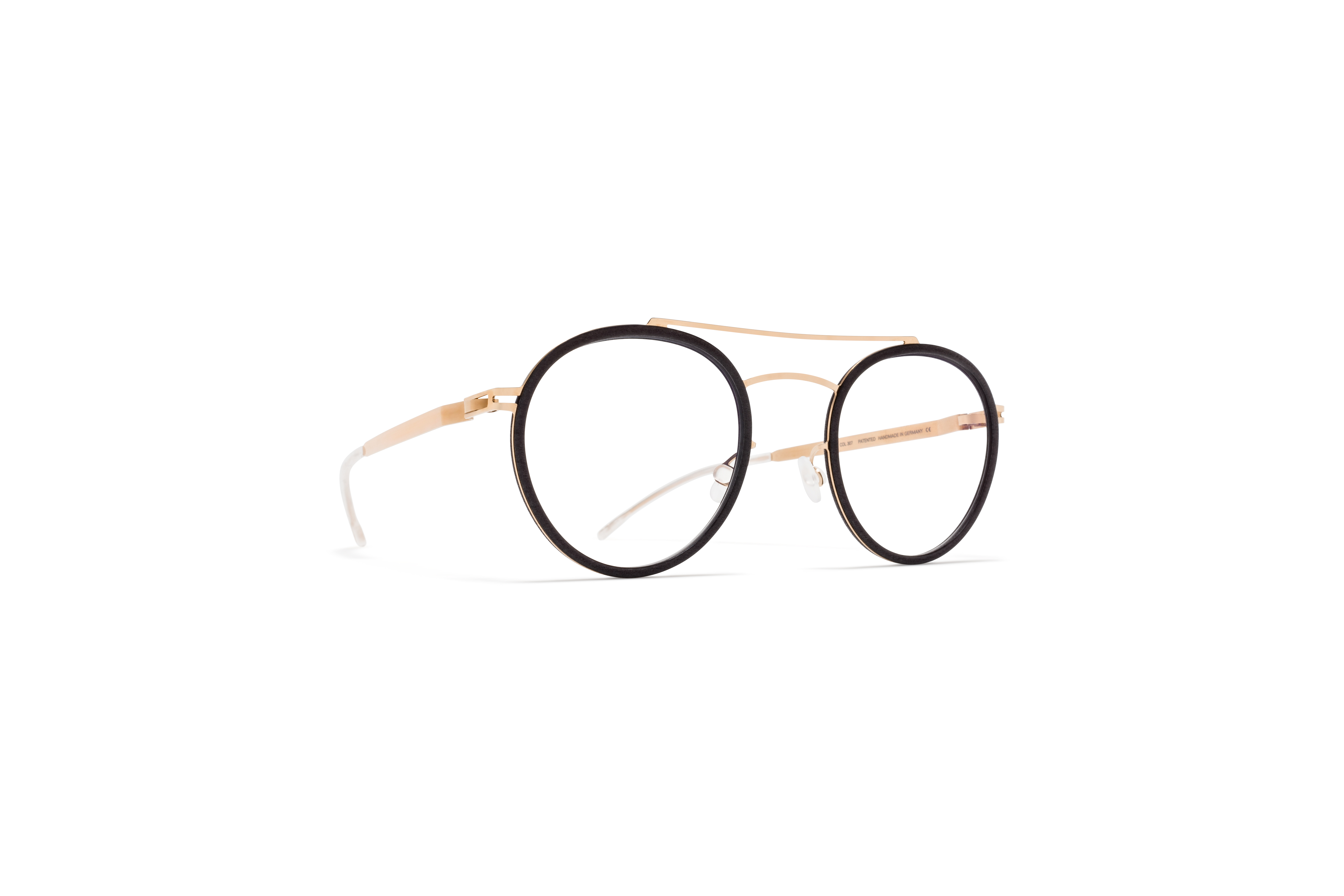 MYKITA Mylon Rx Hay Mh8 Ebony Brown Champagne Gold Clear