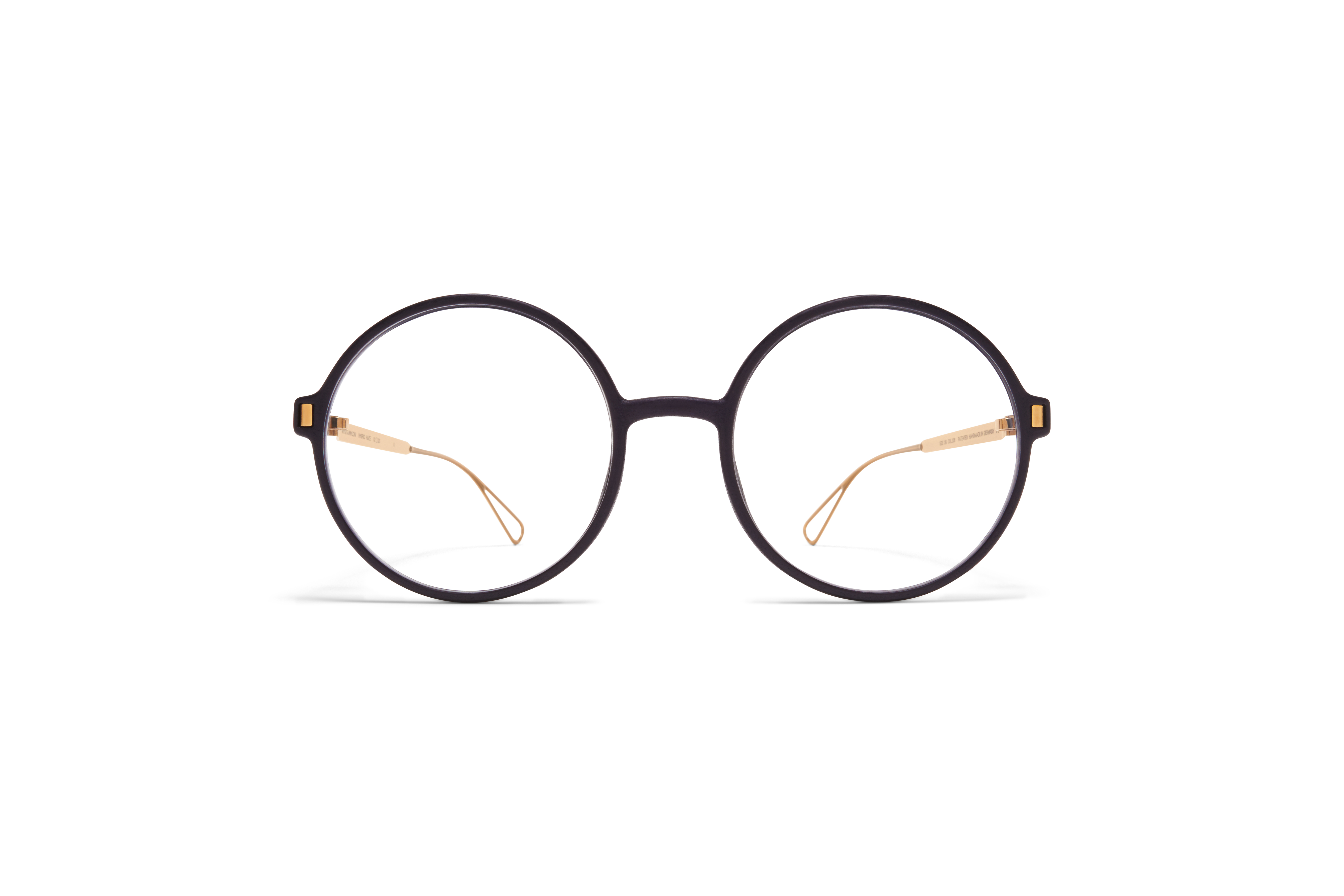 MYKITA Mylon Rx Haze Mh7 Pitch Black Glossy Gold Clear